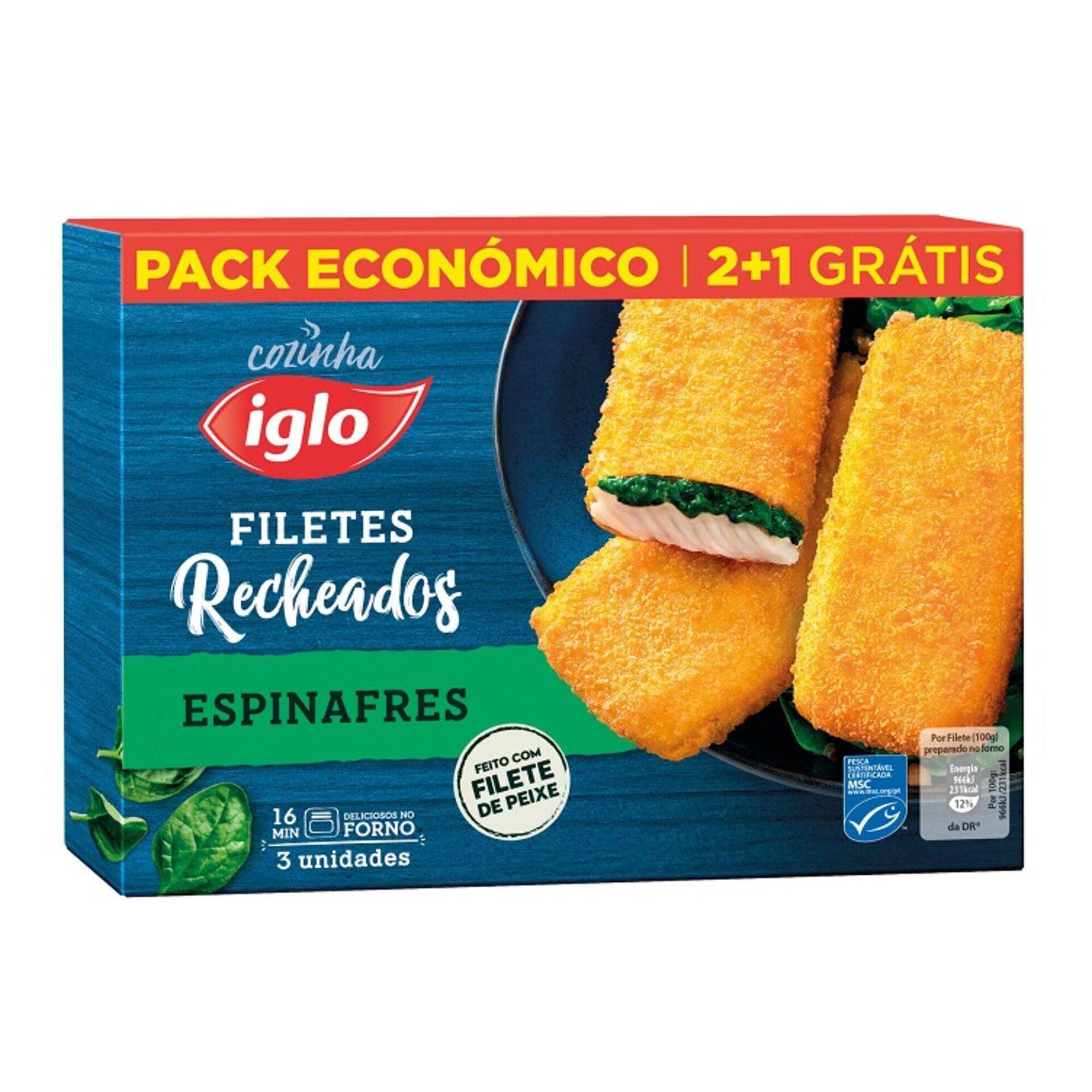 Filetes Recheados Espinafres