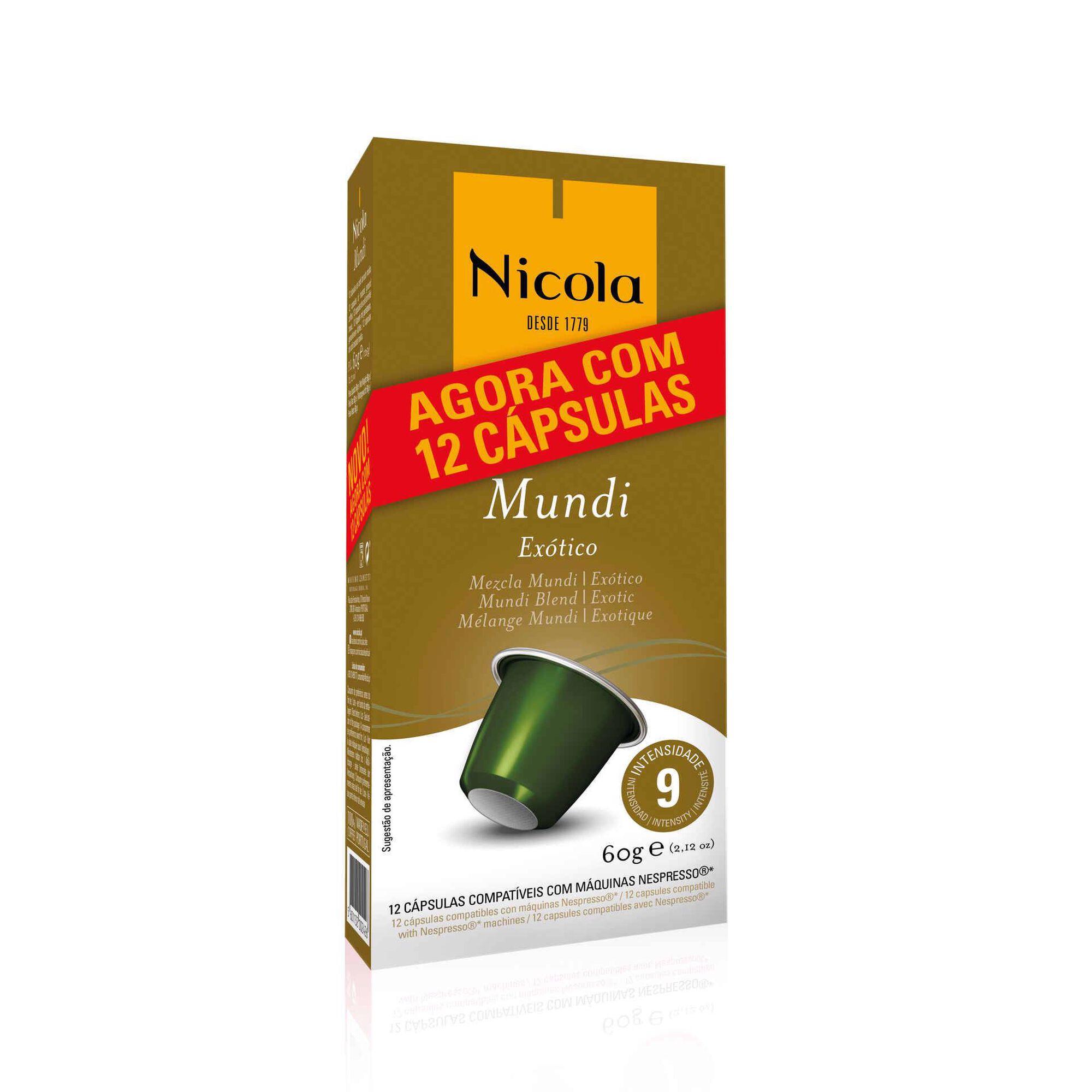Cápsulas de Café Mundi Exótico Compatível com Nespresso Int 9