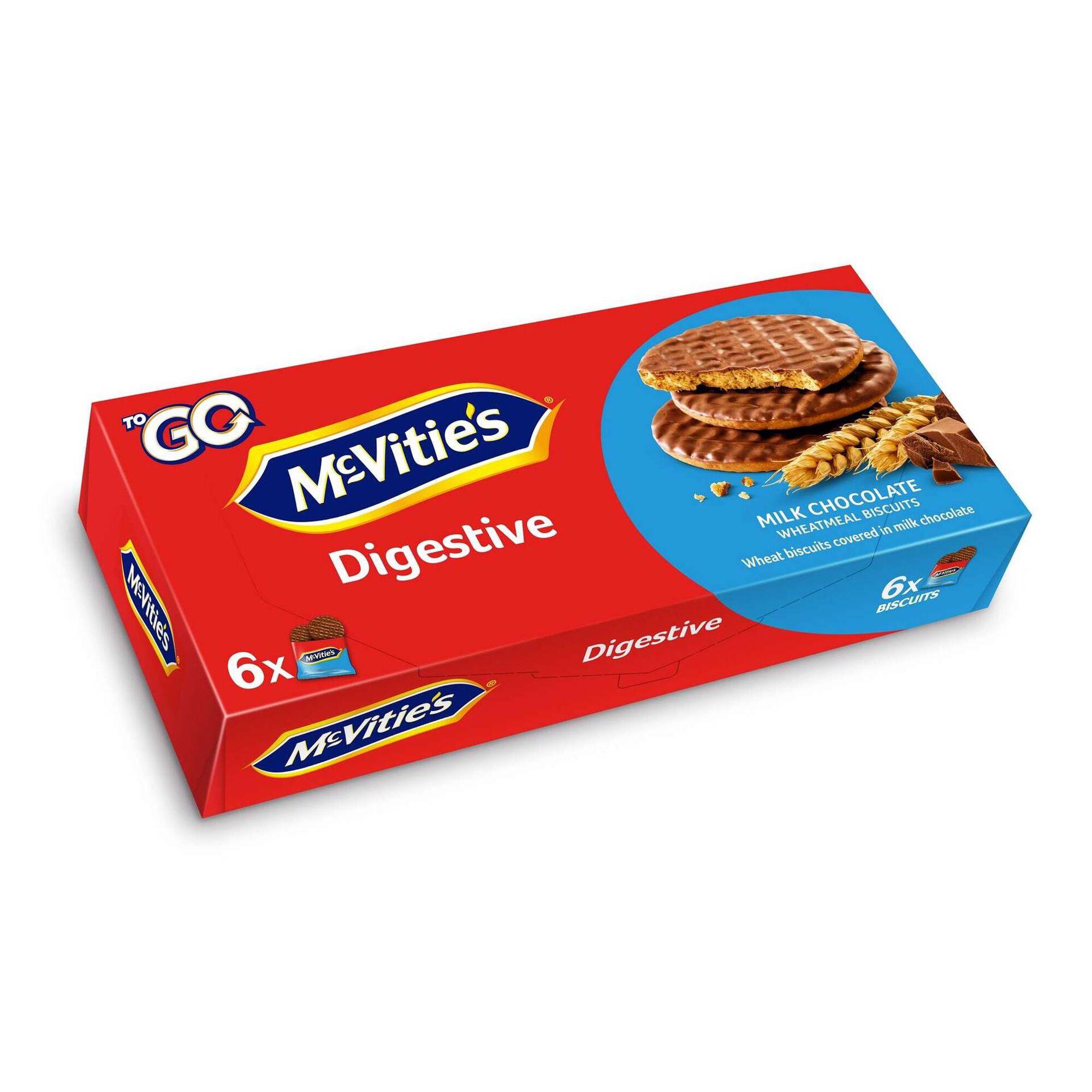 Bolachas Digestivas com Chocolate de Leite