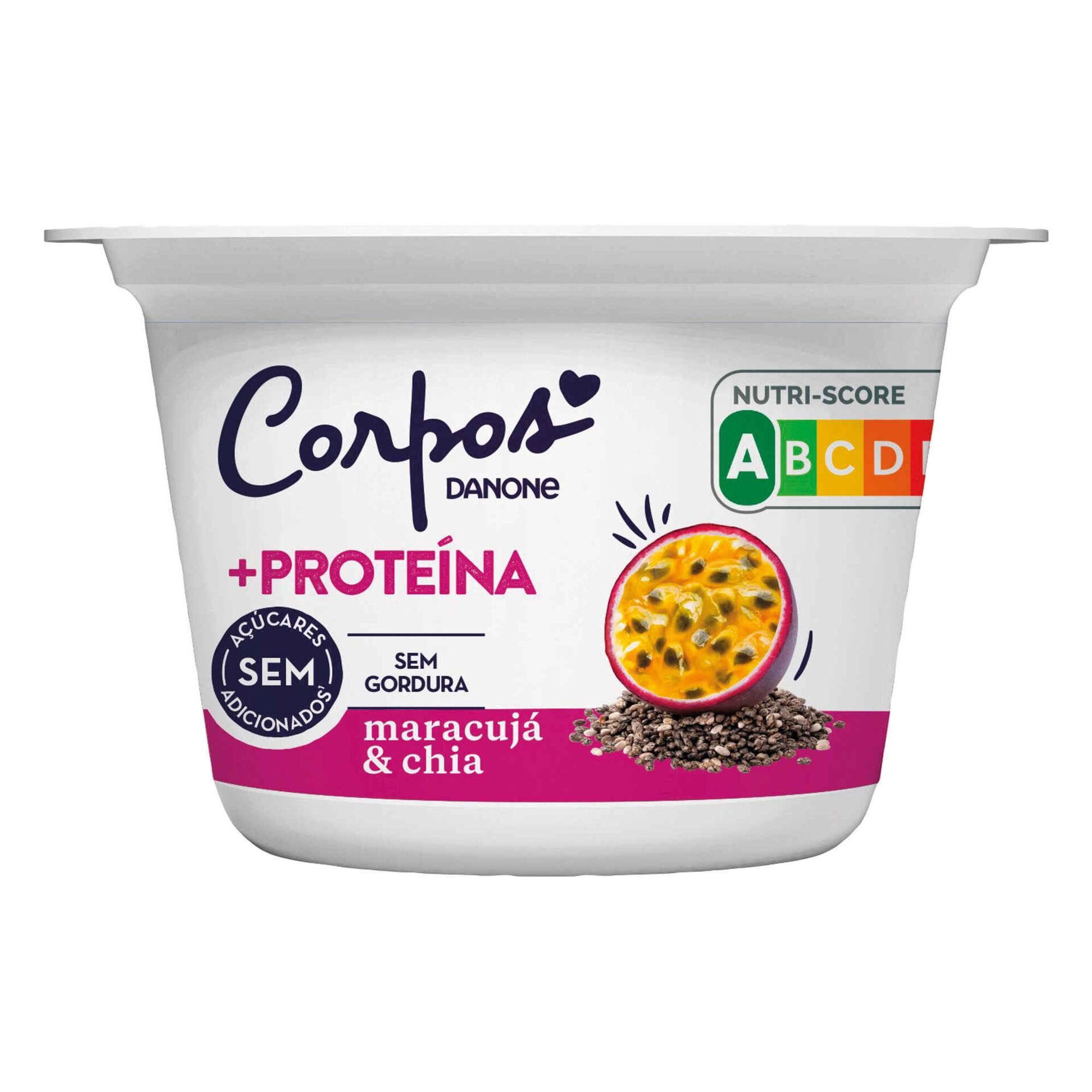 Iogurte +Proteína Sólido Maracujá e Chia Corpos Danone