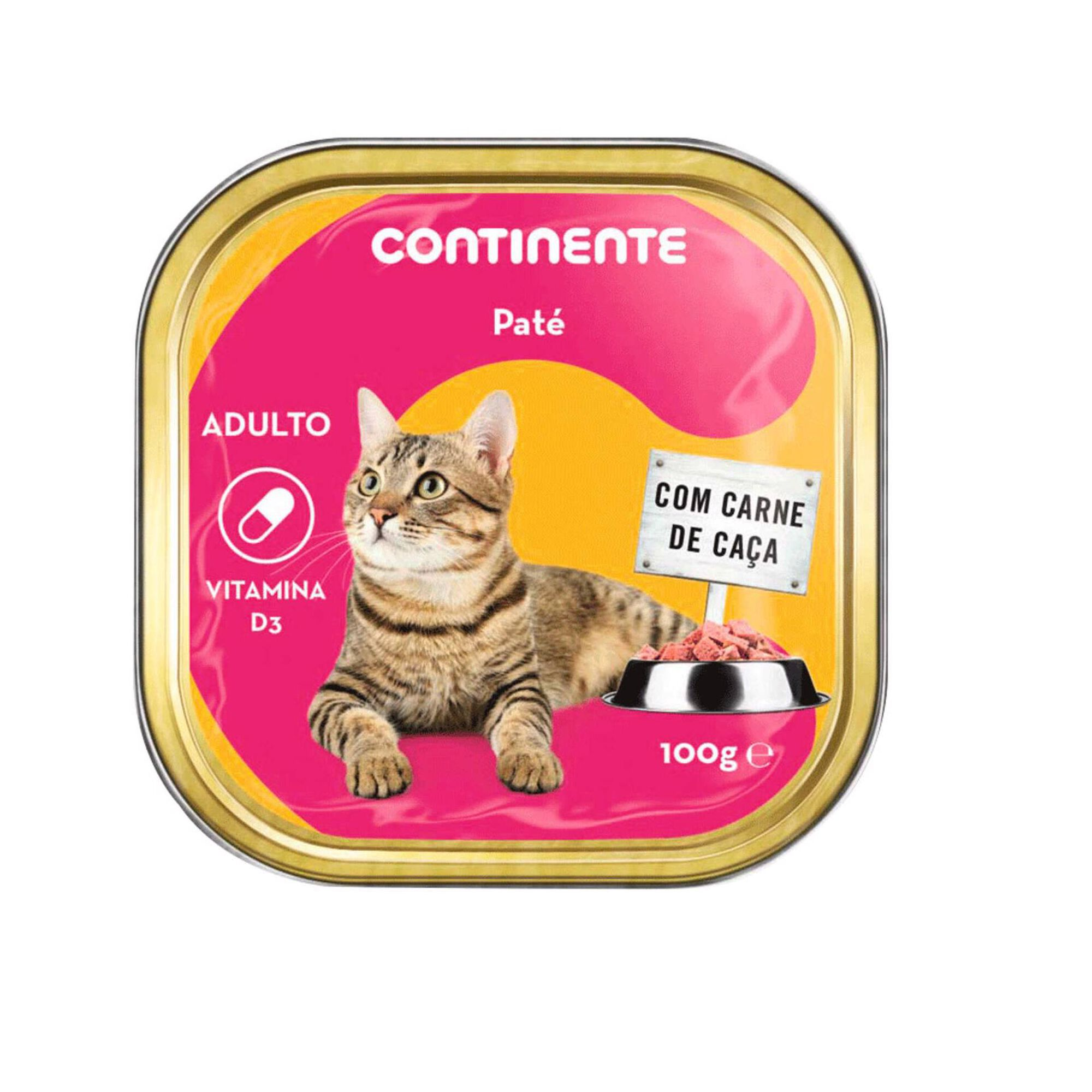 Comida Húmida para Gato Adulto Patê Carne de Caça Terrina