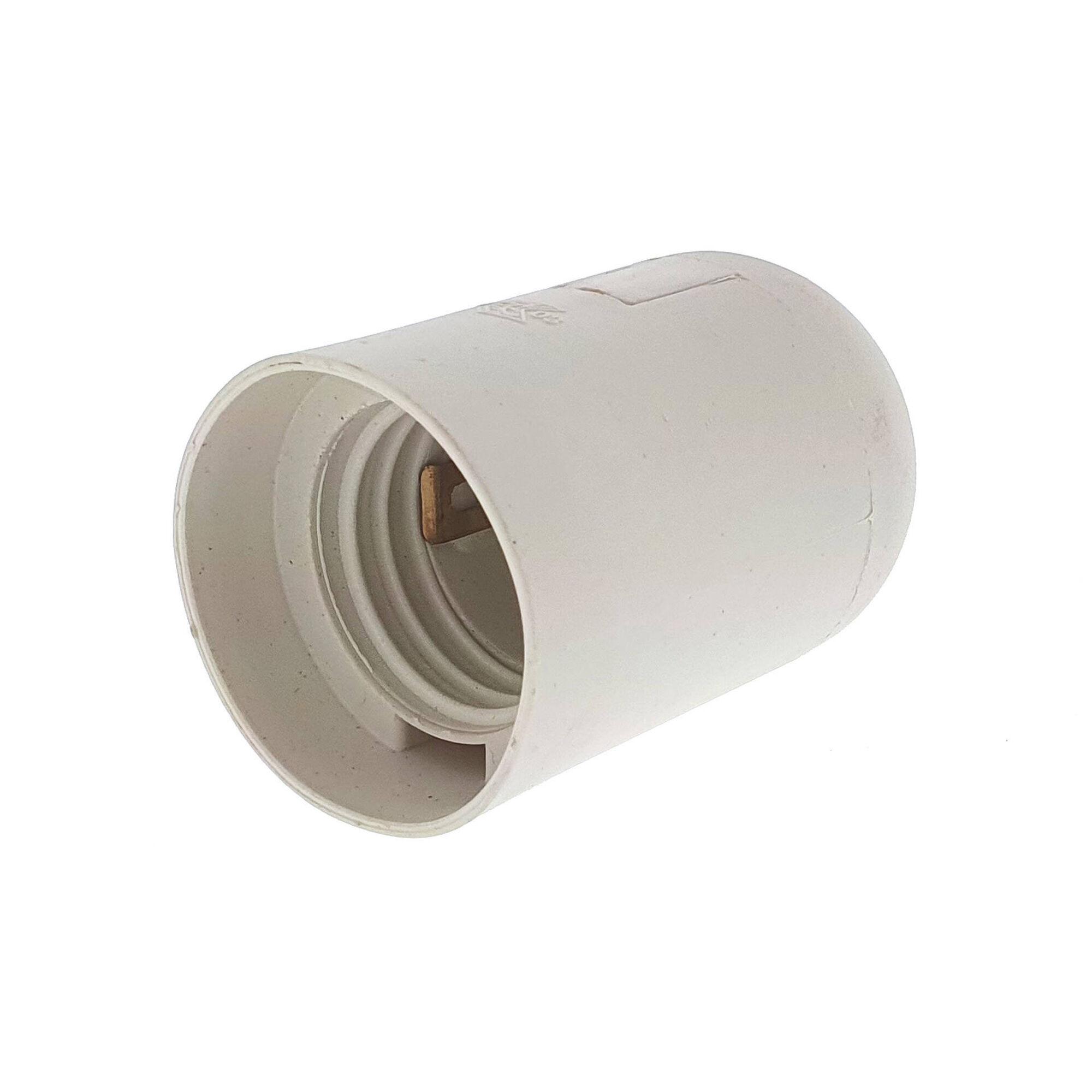 Suporte Lâmpada E27 Branco