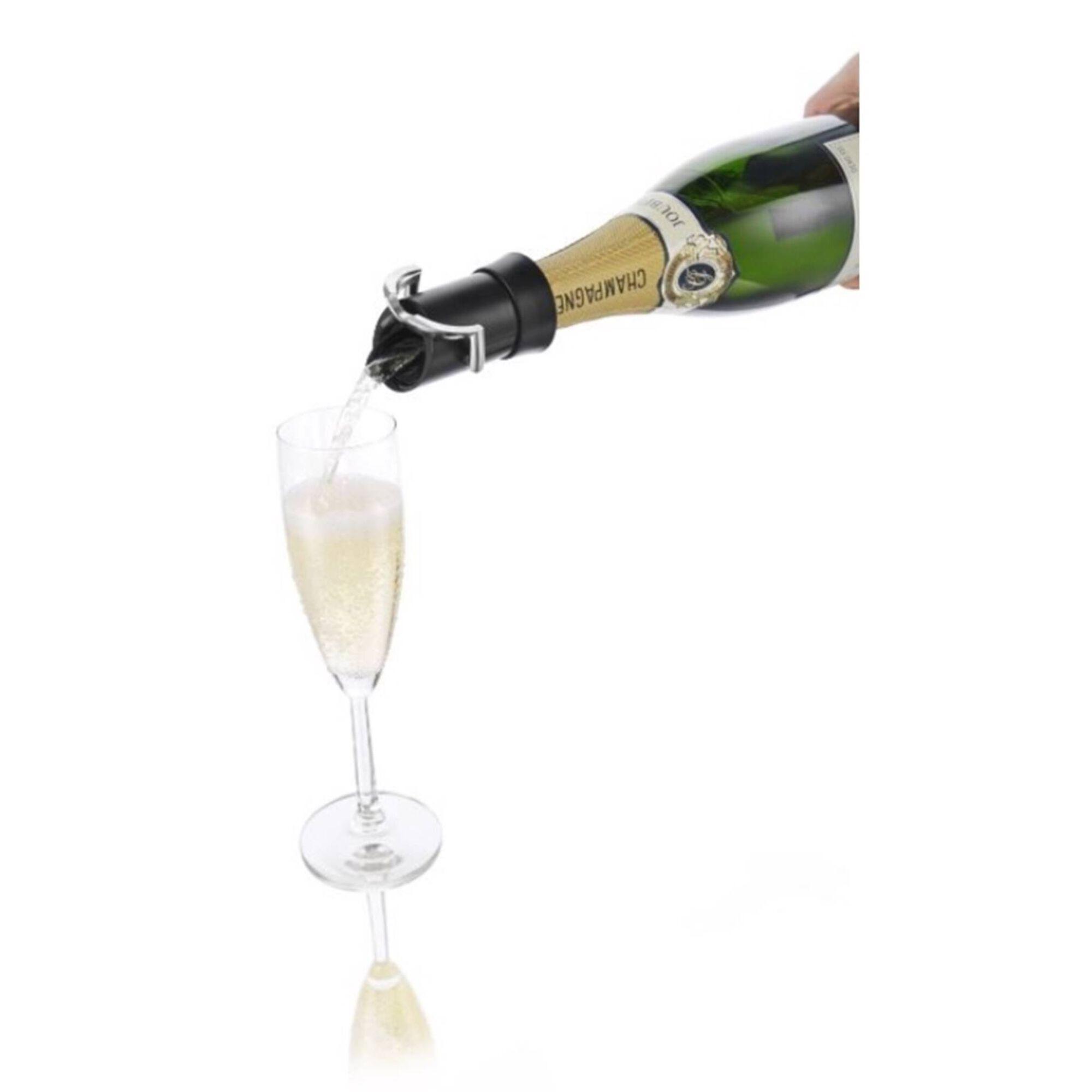 Rolha para Champanhe Plástica Preta