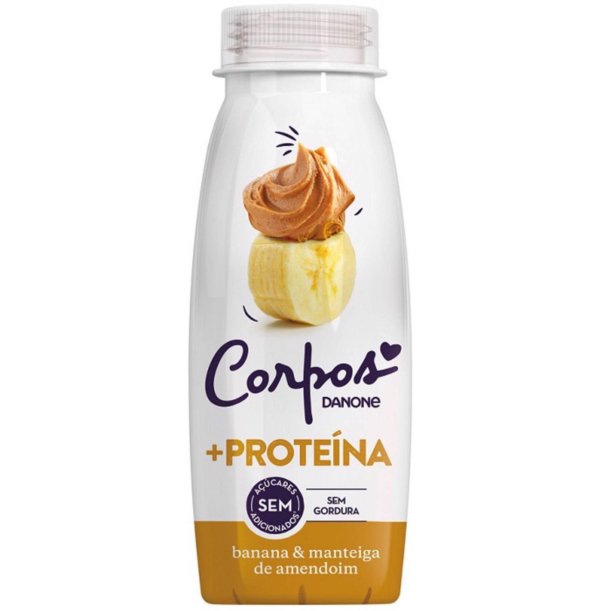 Iogurte Líquido +Proteína Banana e Manteiga de Amendoim Corpos Danone