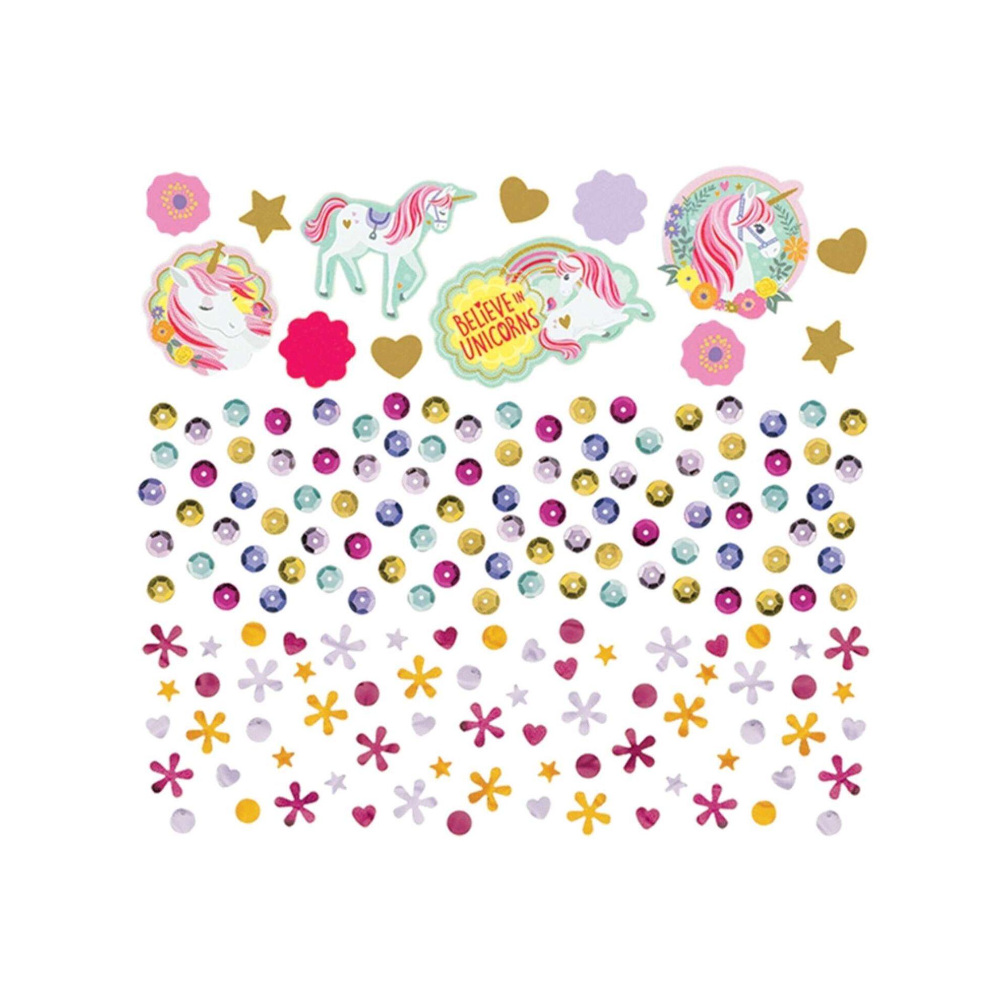 Confetis Unicórnios