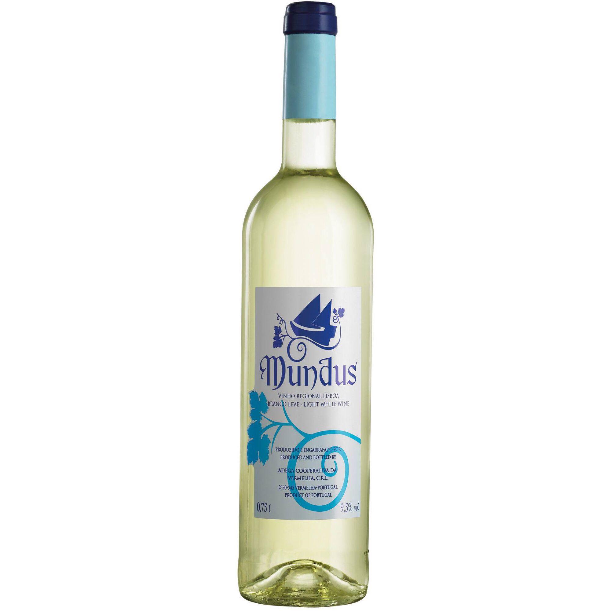 Mundus Leve Colheita Selecionada Regional Lisboa Vinho Branco