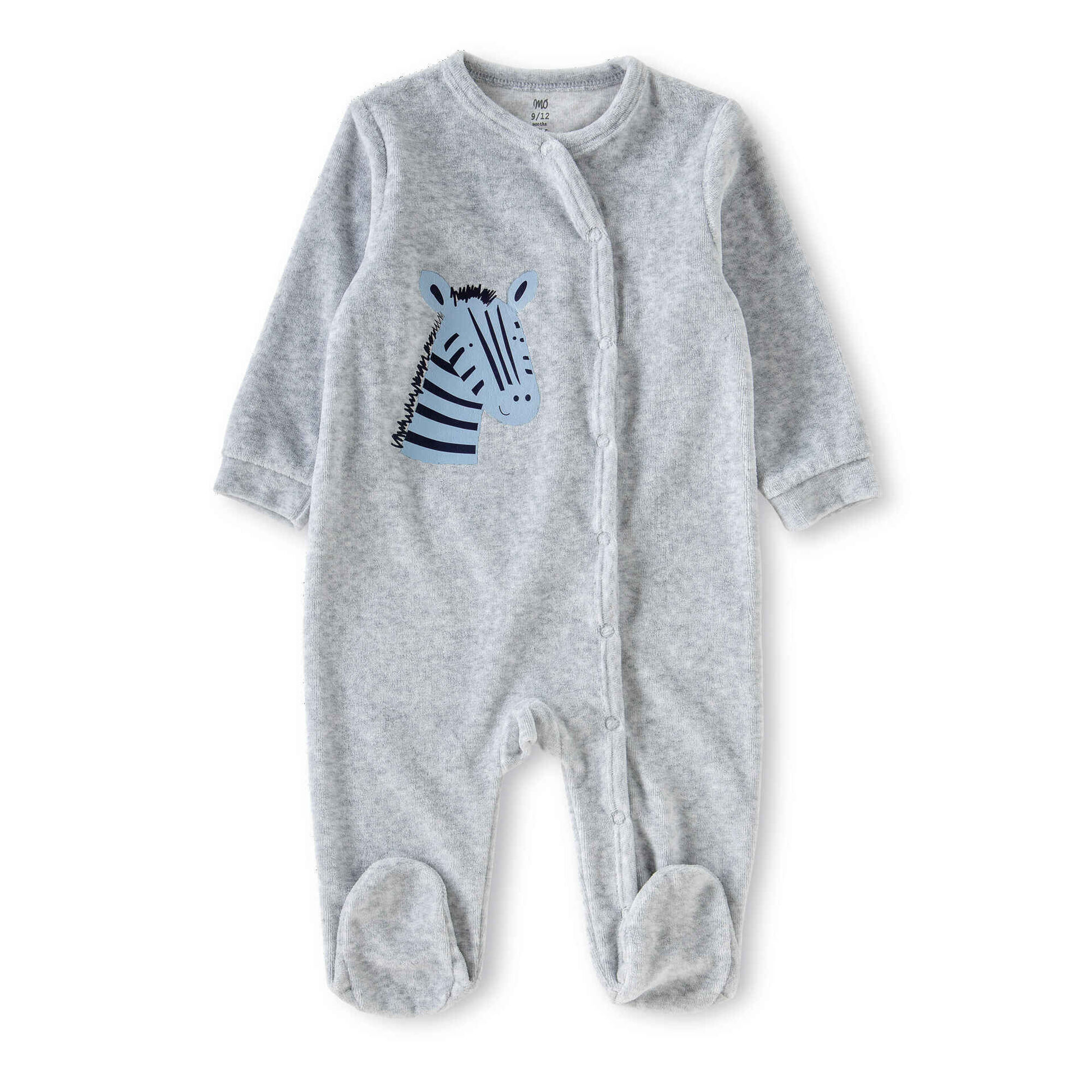 Babygrow Zebra Cinza