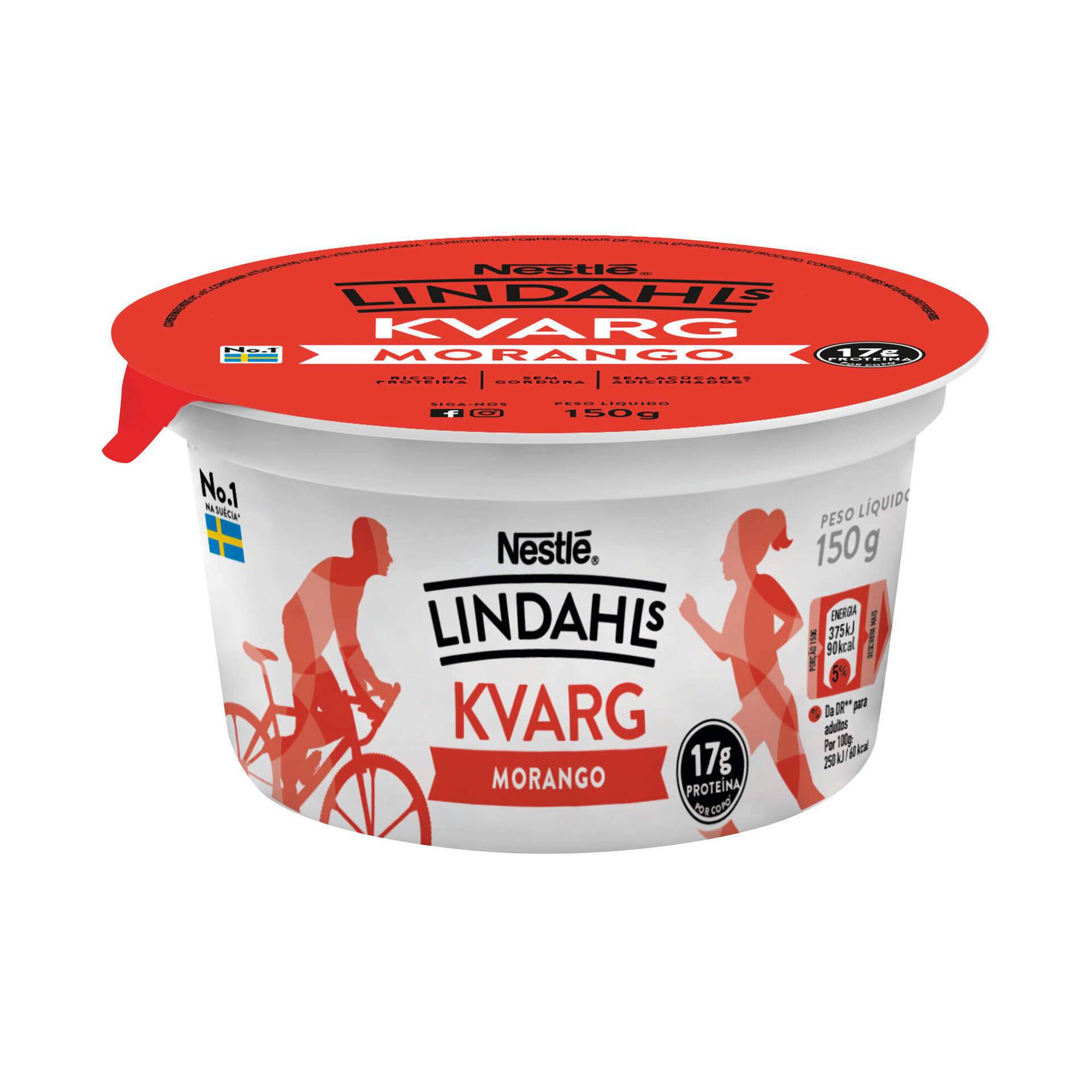 Iogurte Sólido Proteína Kvarg Morango