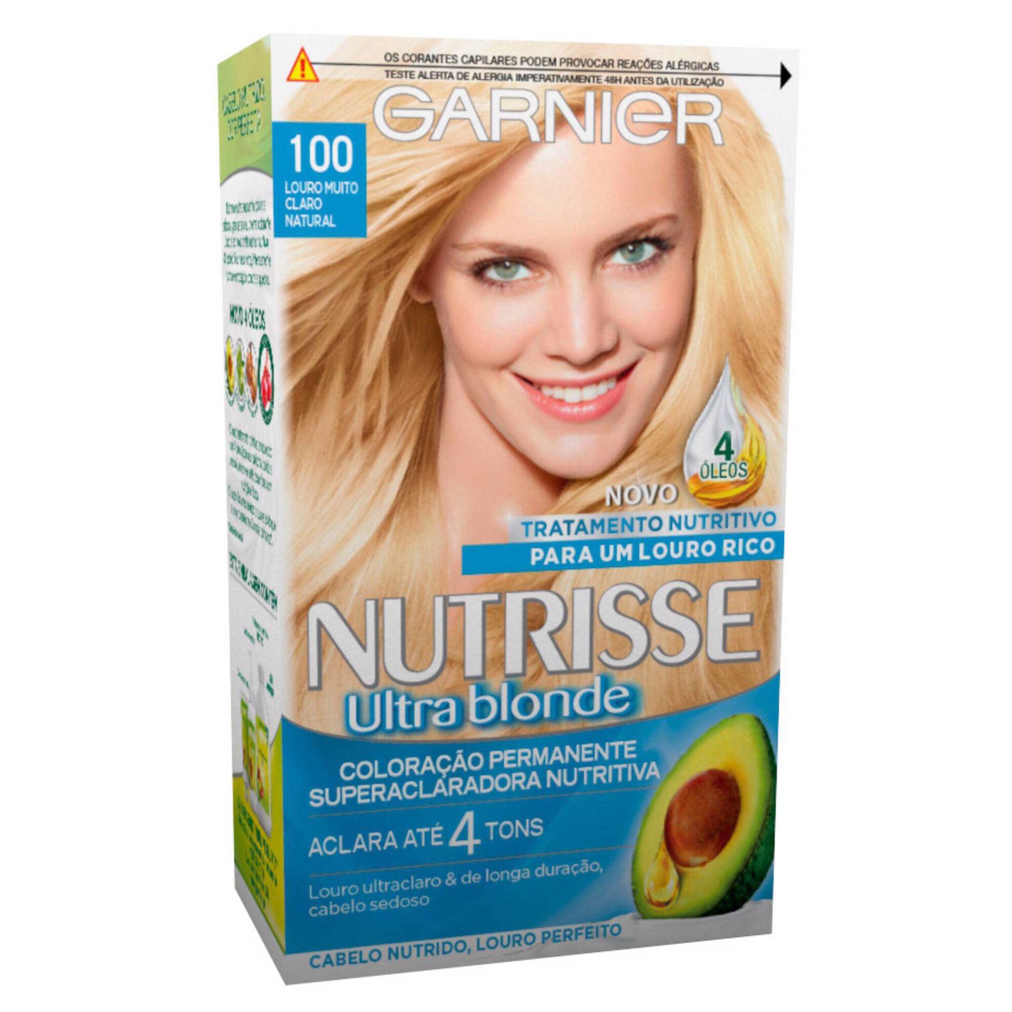 Coloração Permanente Nutrisse Ultra Blonde Louro Muito Claro Natural 100