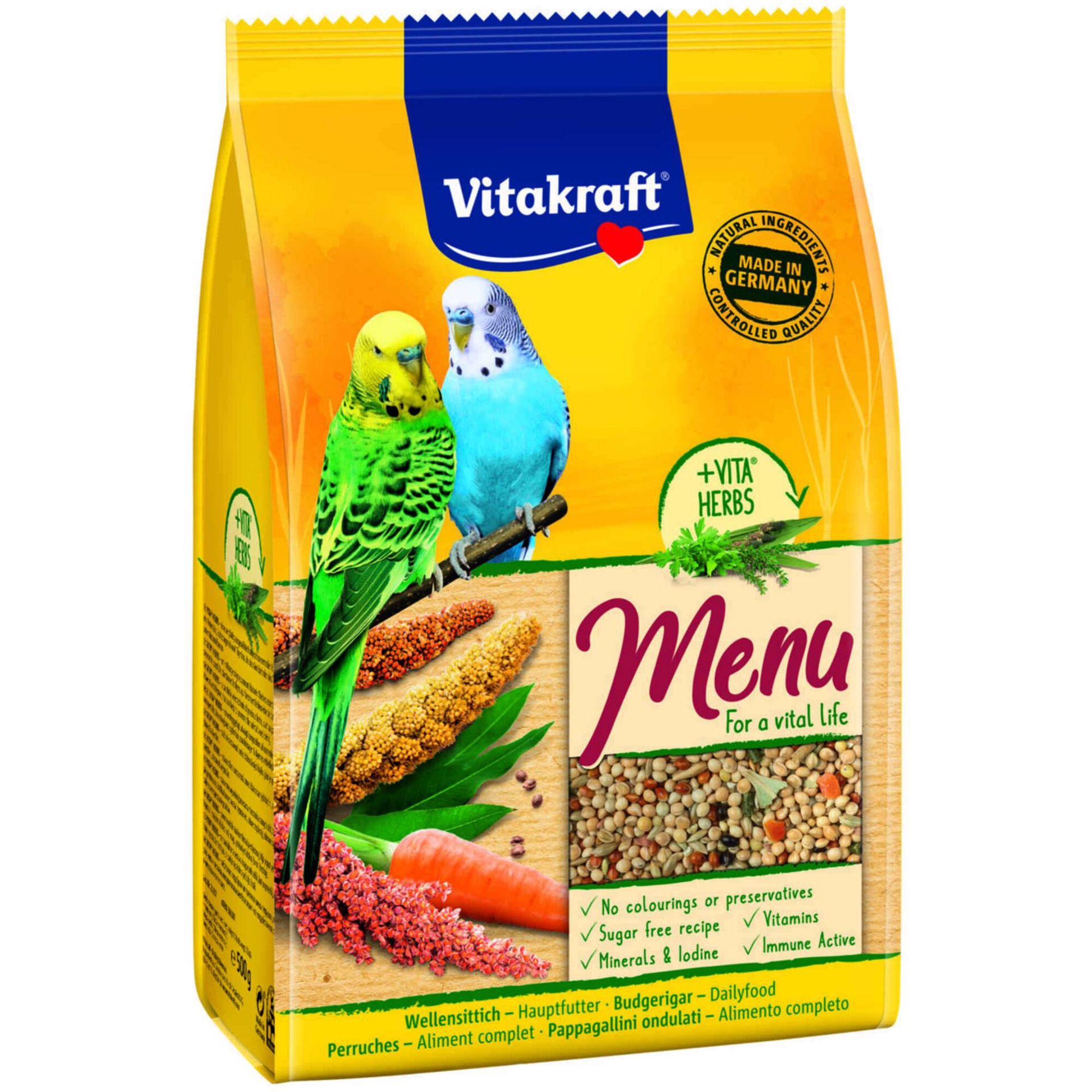 Comida para Periquito Menu