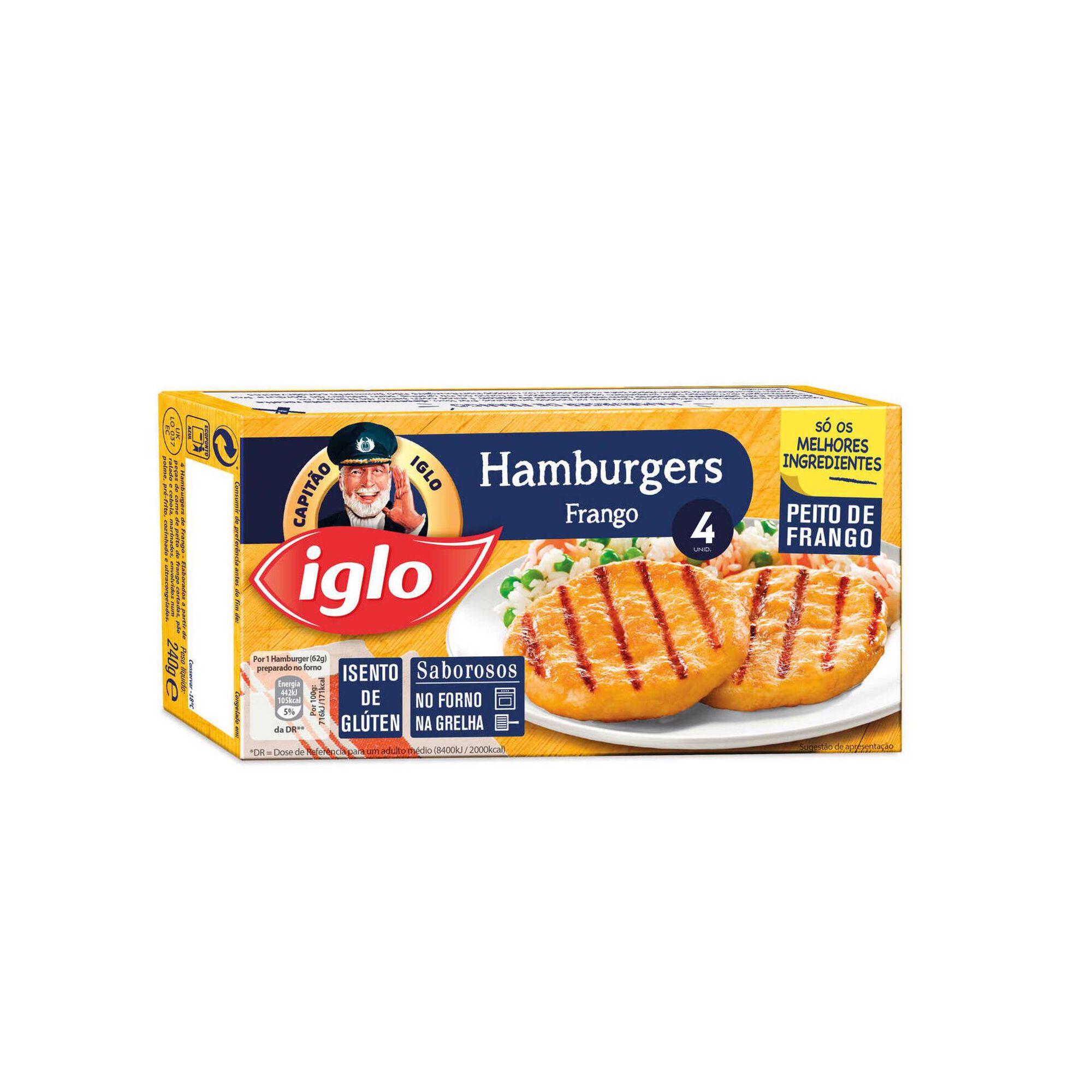 Hambúrgueres de Frango Sem Glúten