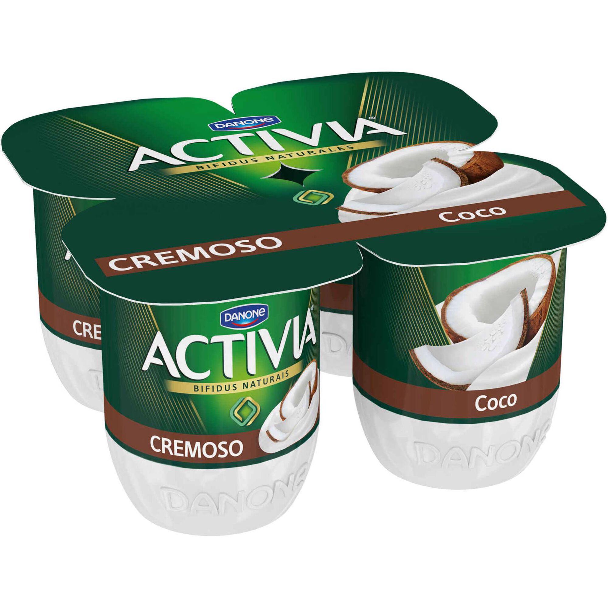 Iogurte Bifidus Cremoso Probióticos Coco Activia