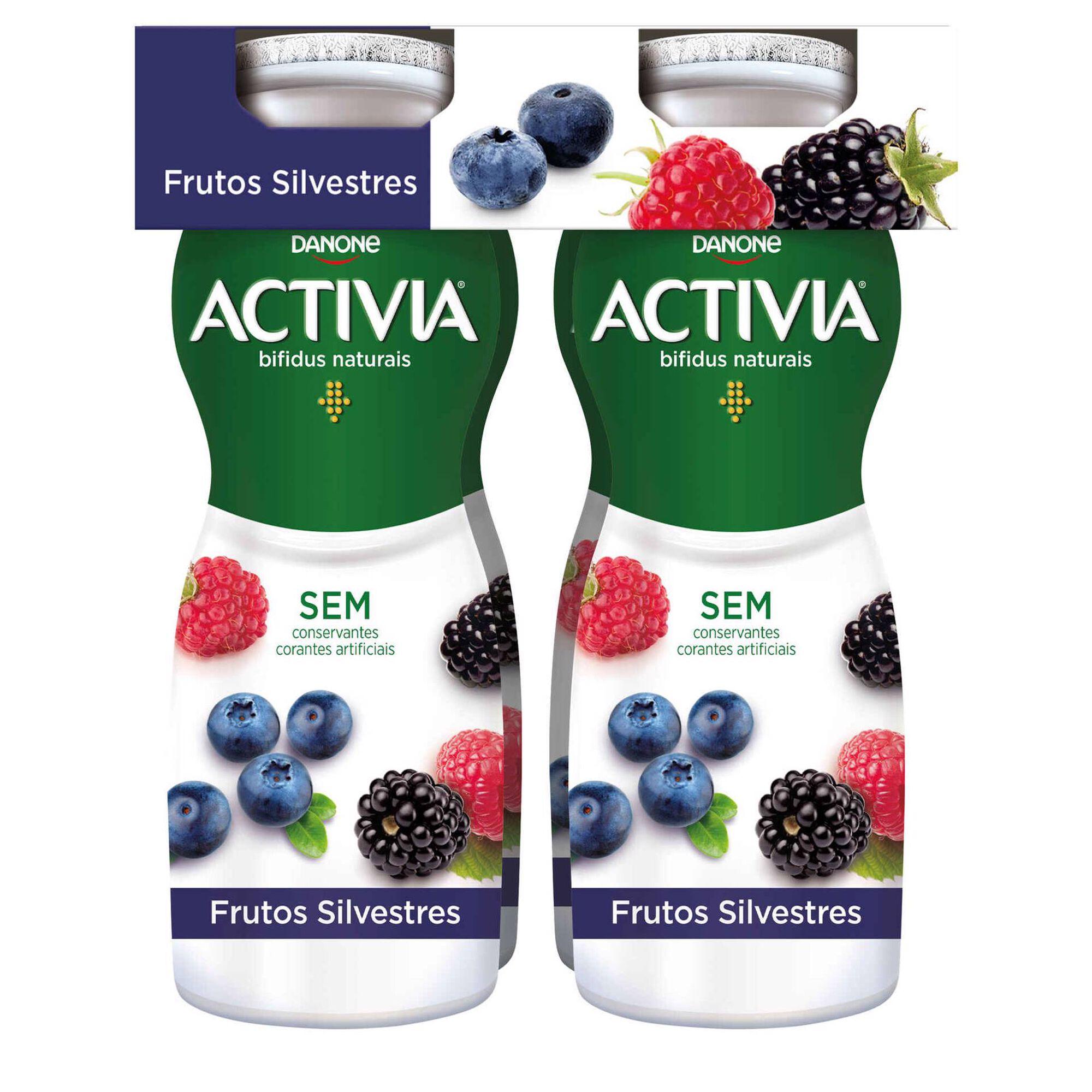 Iogurte Líquido Bifidus Probióticos Frutos Silvestres Activia