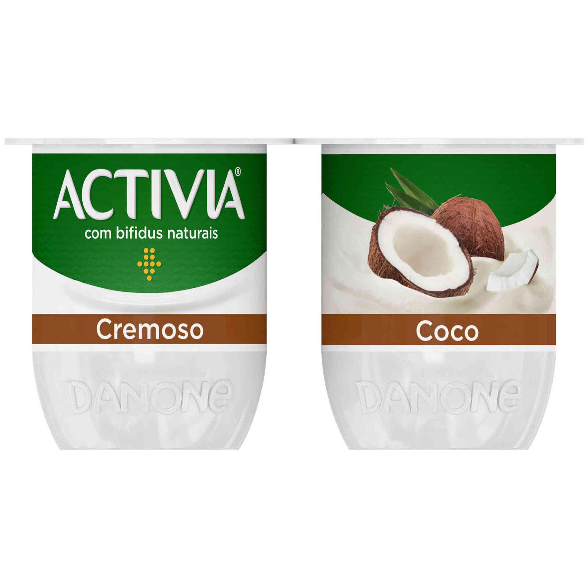 Iogurte Bifidus Cremoso Probióticos Coco