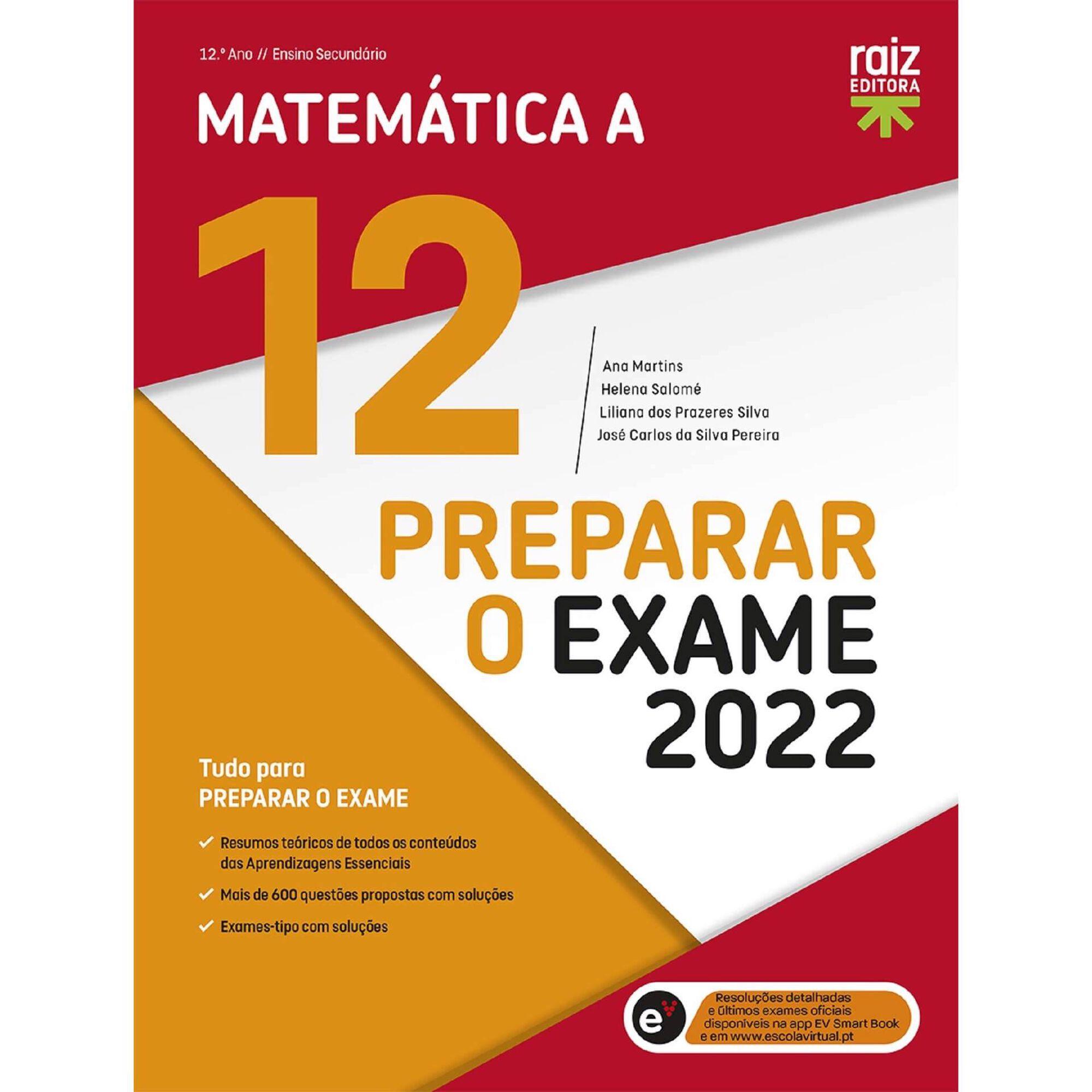 Preparar o Exame 2022 - Matemática A - 12º Ano