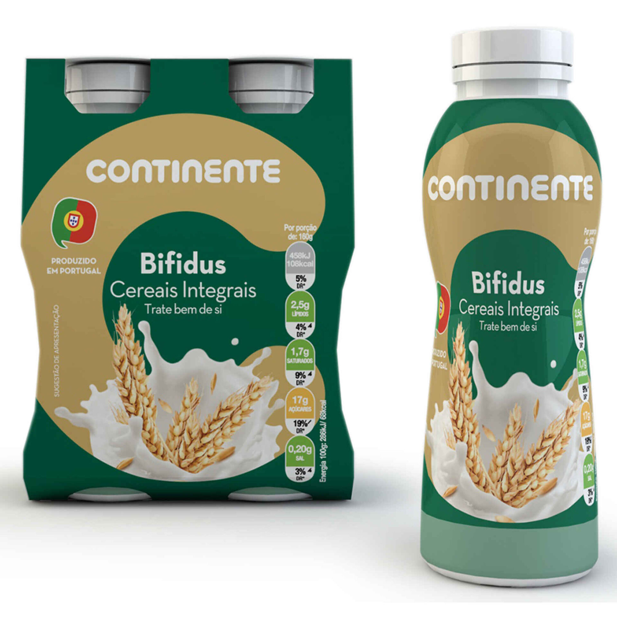 Iogurte Líquido Bifidus Cereais Integrais