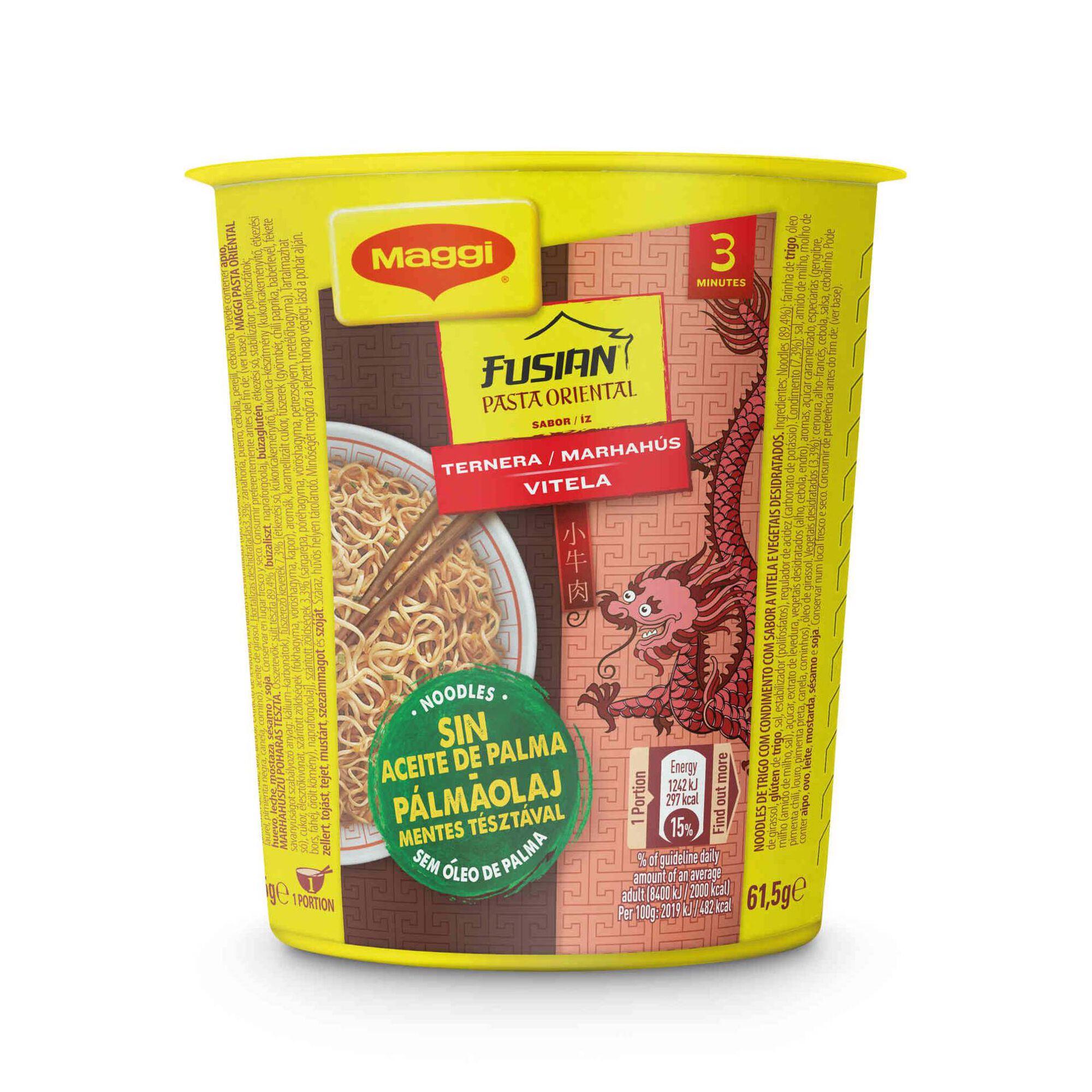 Noodles Pasta Oriental de Vitela Cup