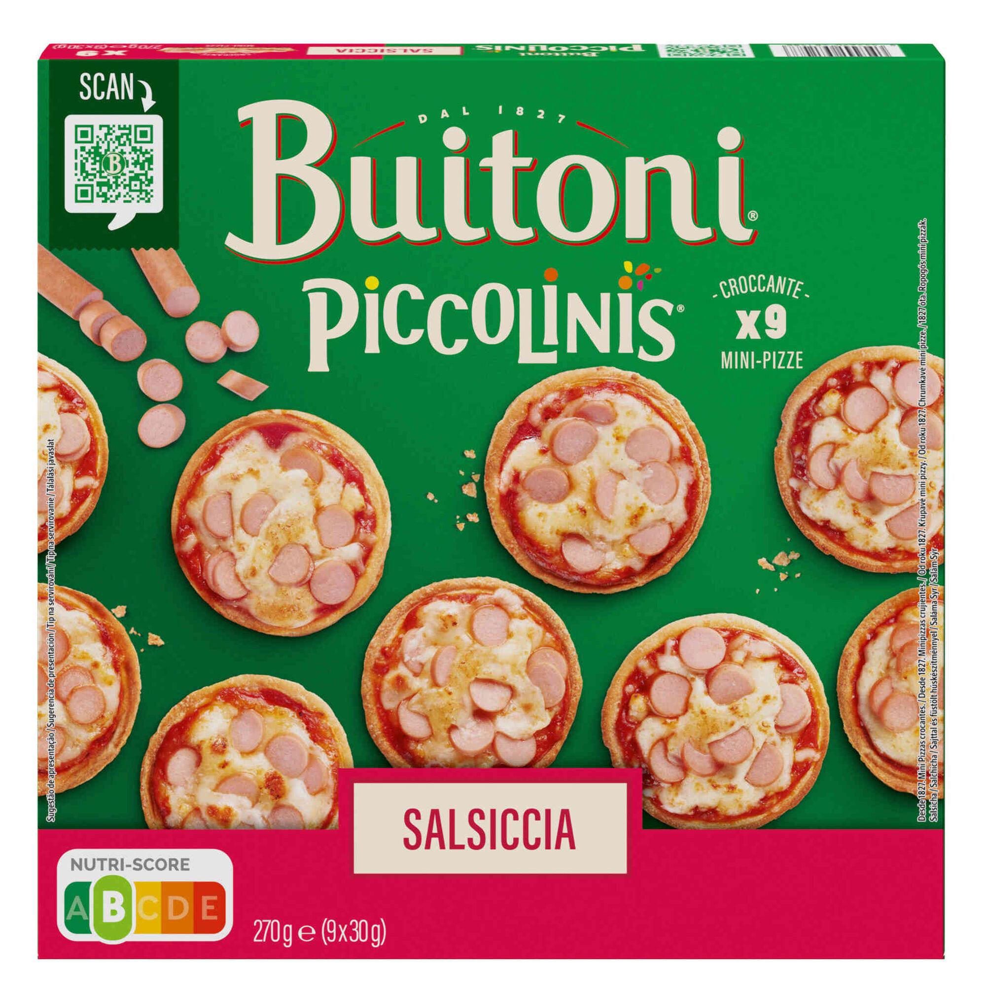 Mini Pizzas Piccolinis de Salsicha