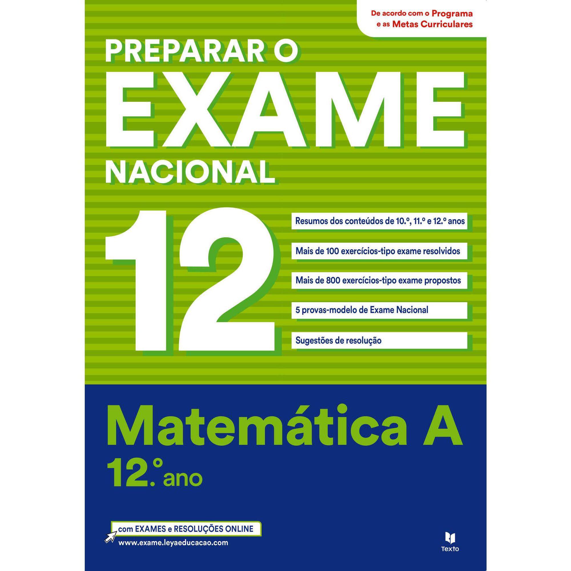 Preparar o Exame Nacional Matemática A - 12º Ano