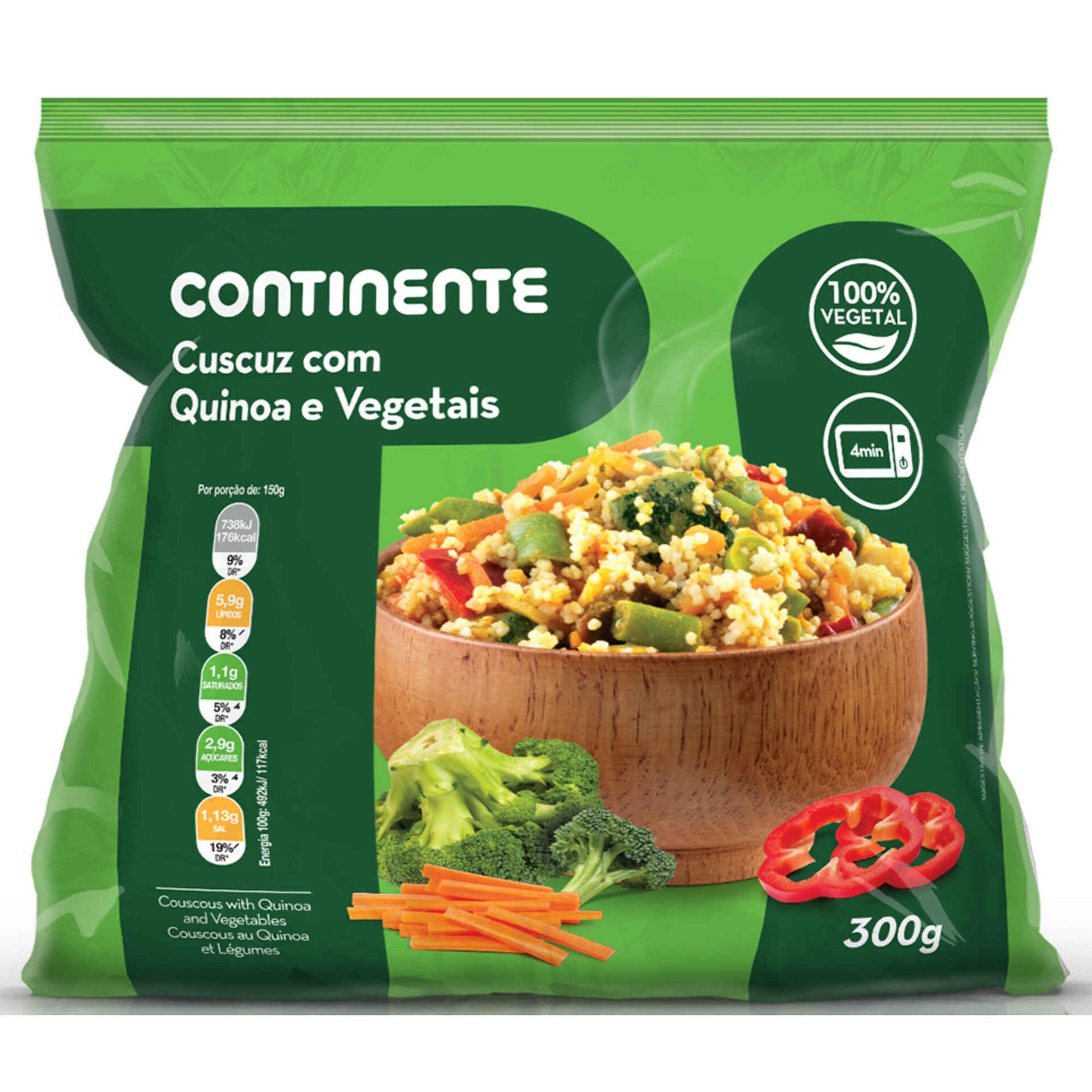 Couscous de Quinoa e Vegetais