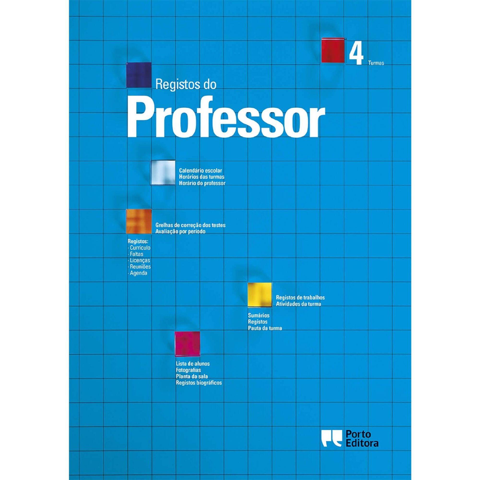Registos do Professor - 4 Turmas