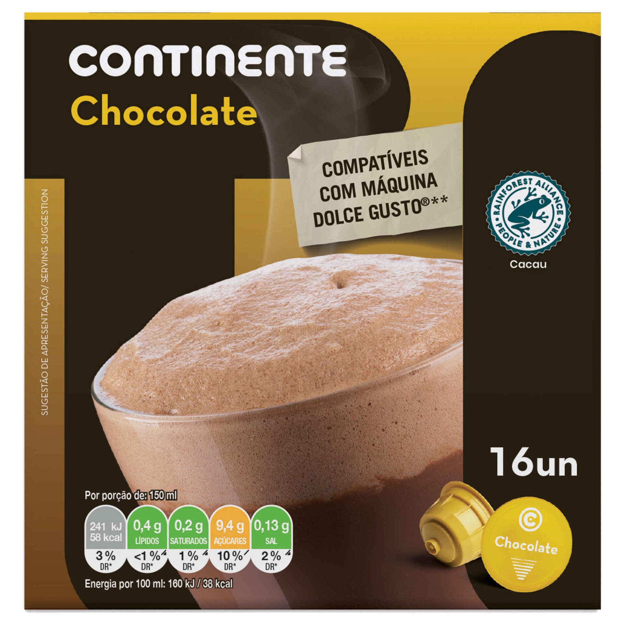Cápsulas de Chocolate Quente Compatível com Dolce Gusto