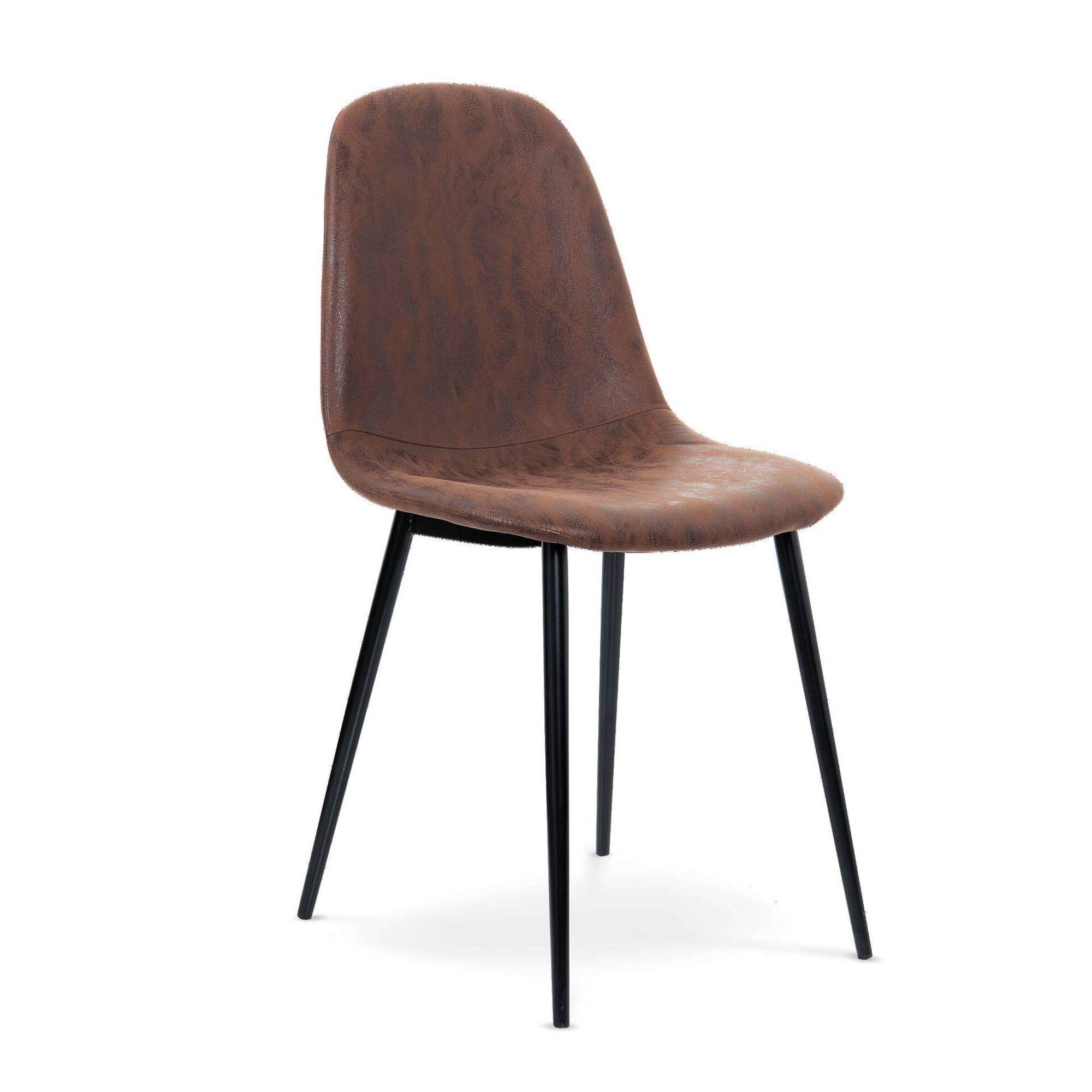 Cadeira Estofada Castanha Amber