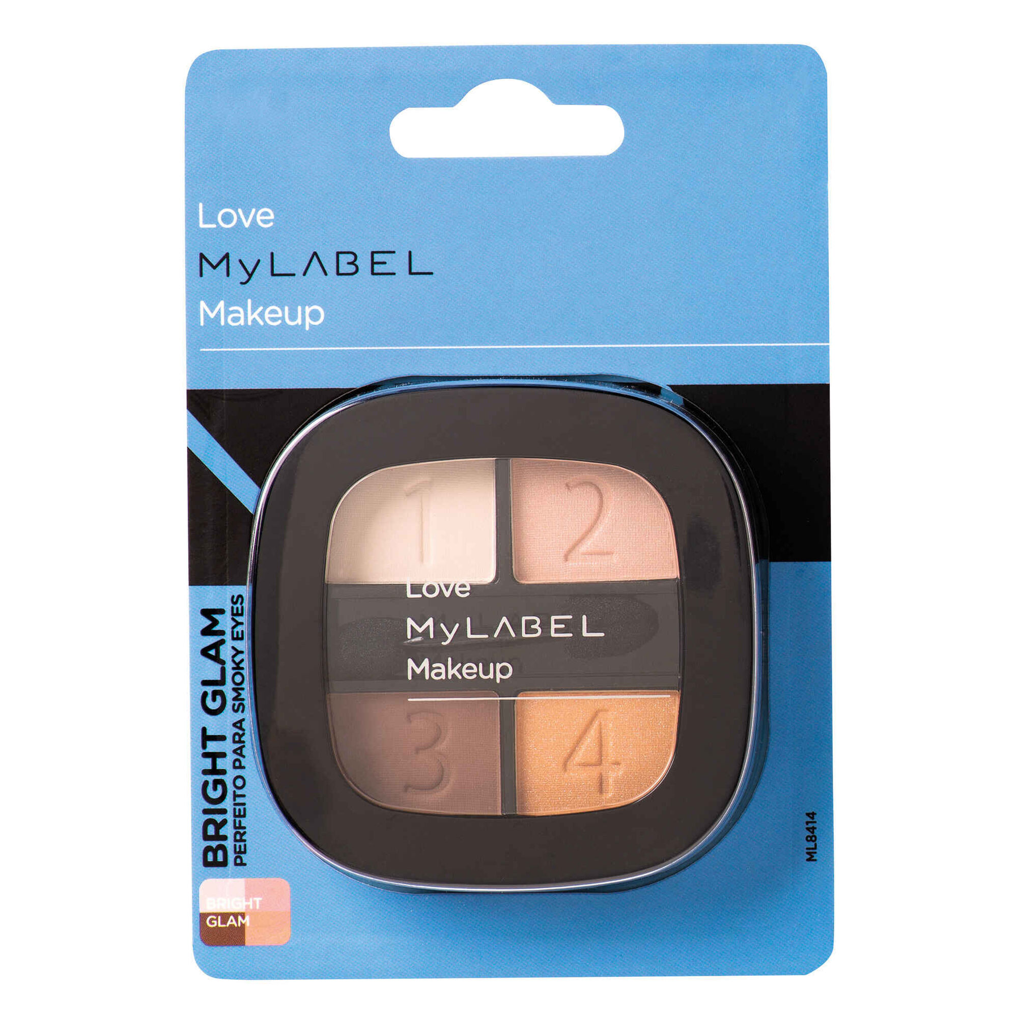 Palete Sombras Bright Glam 4 Cores