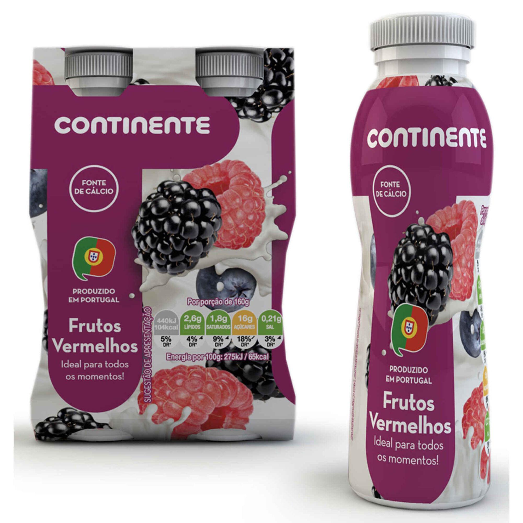Iogurte Líquido Frutos Vermelhos