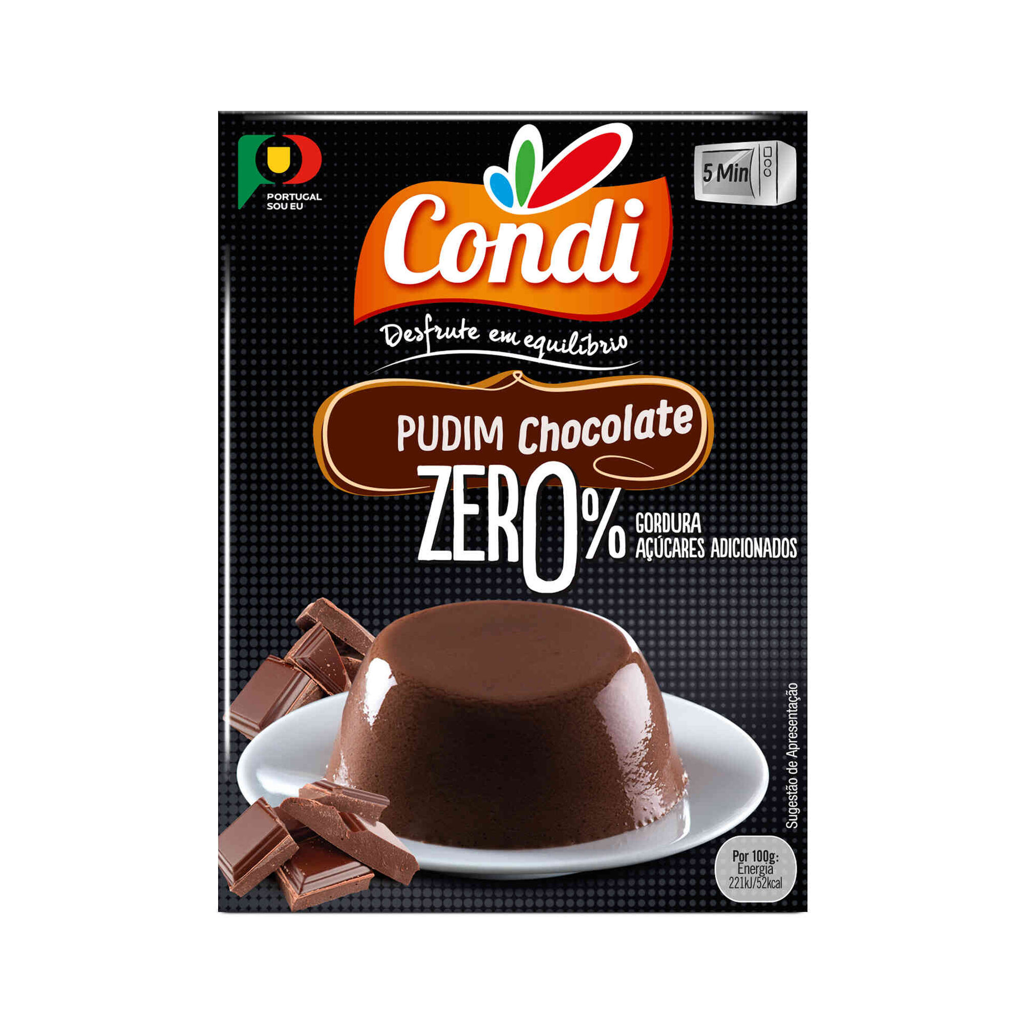 Pudim Zero de Chocolate sem Glúten