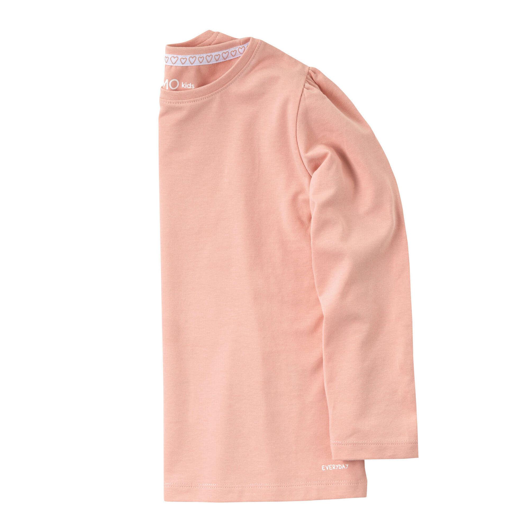 T-shirt Manga Comprida Rosa Claro