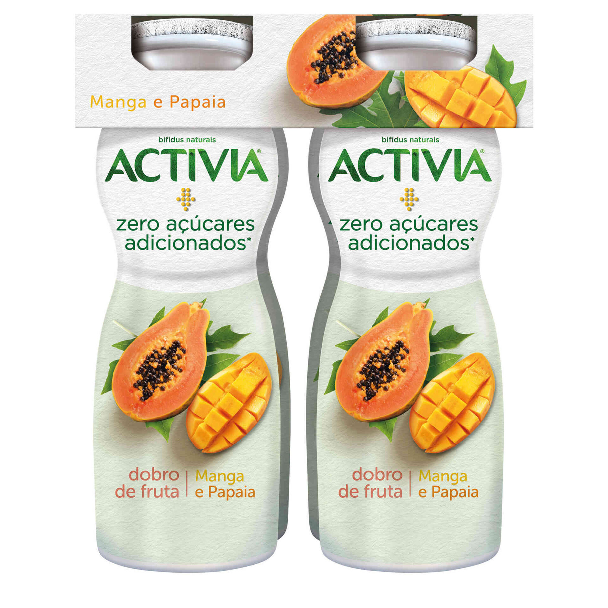 Iogurte Líquido Bifidus Manga e Papaia Activia sem Açúcar
