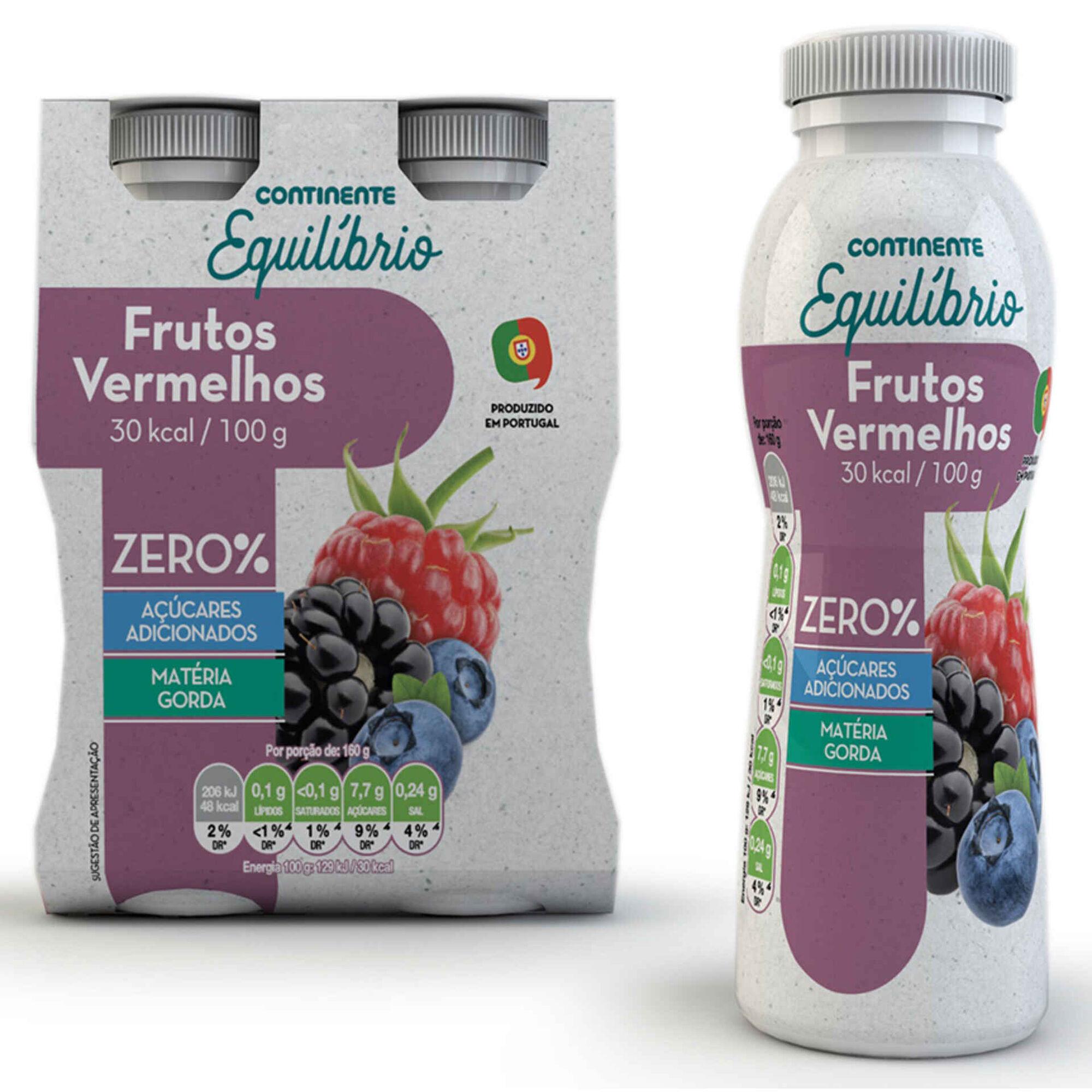 Iogurte Líquido Magro Frutos Vermelhos