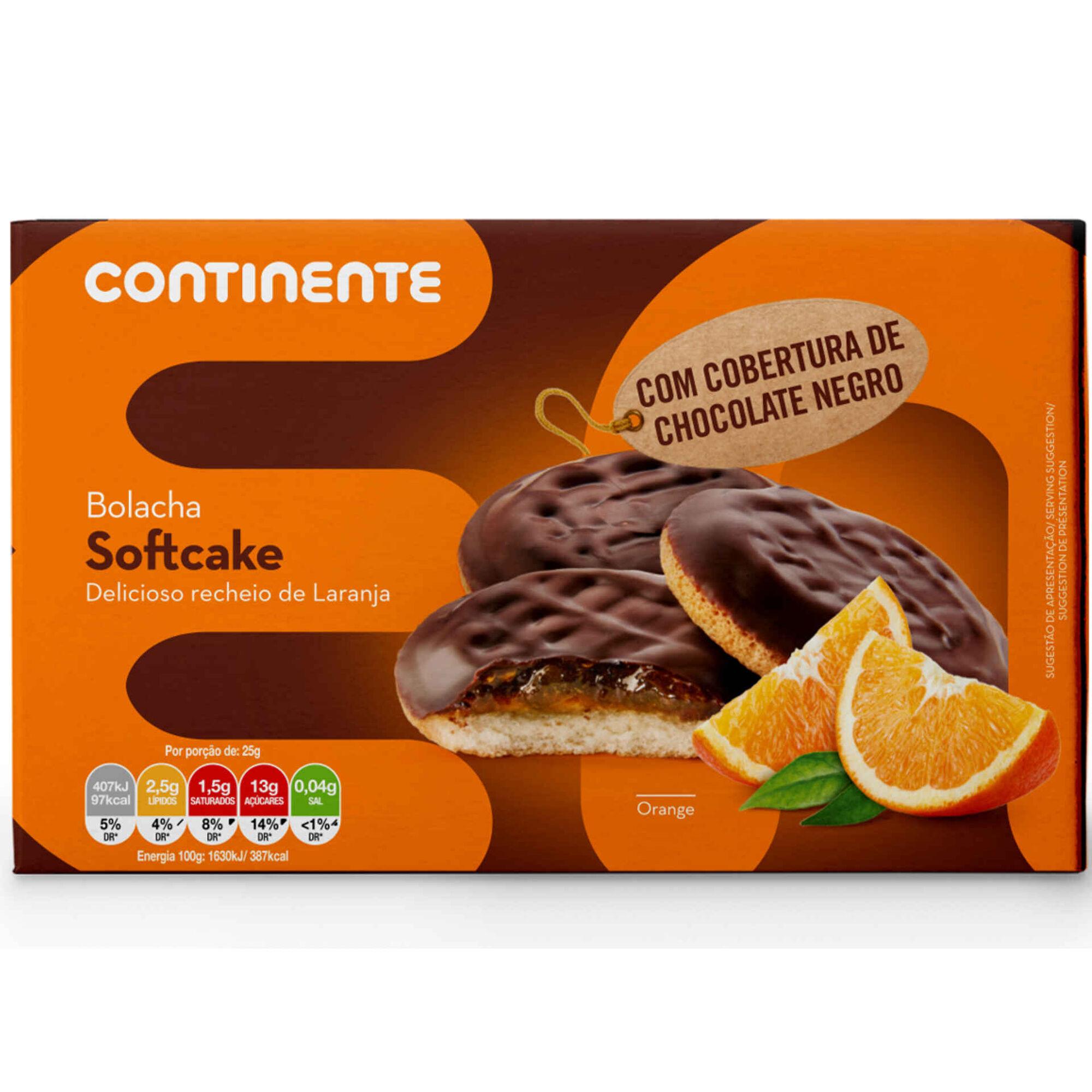 Bolachas Soft Cake de Laranja e Chocolate Negro