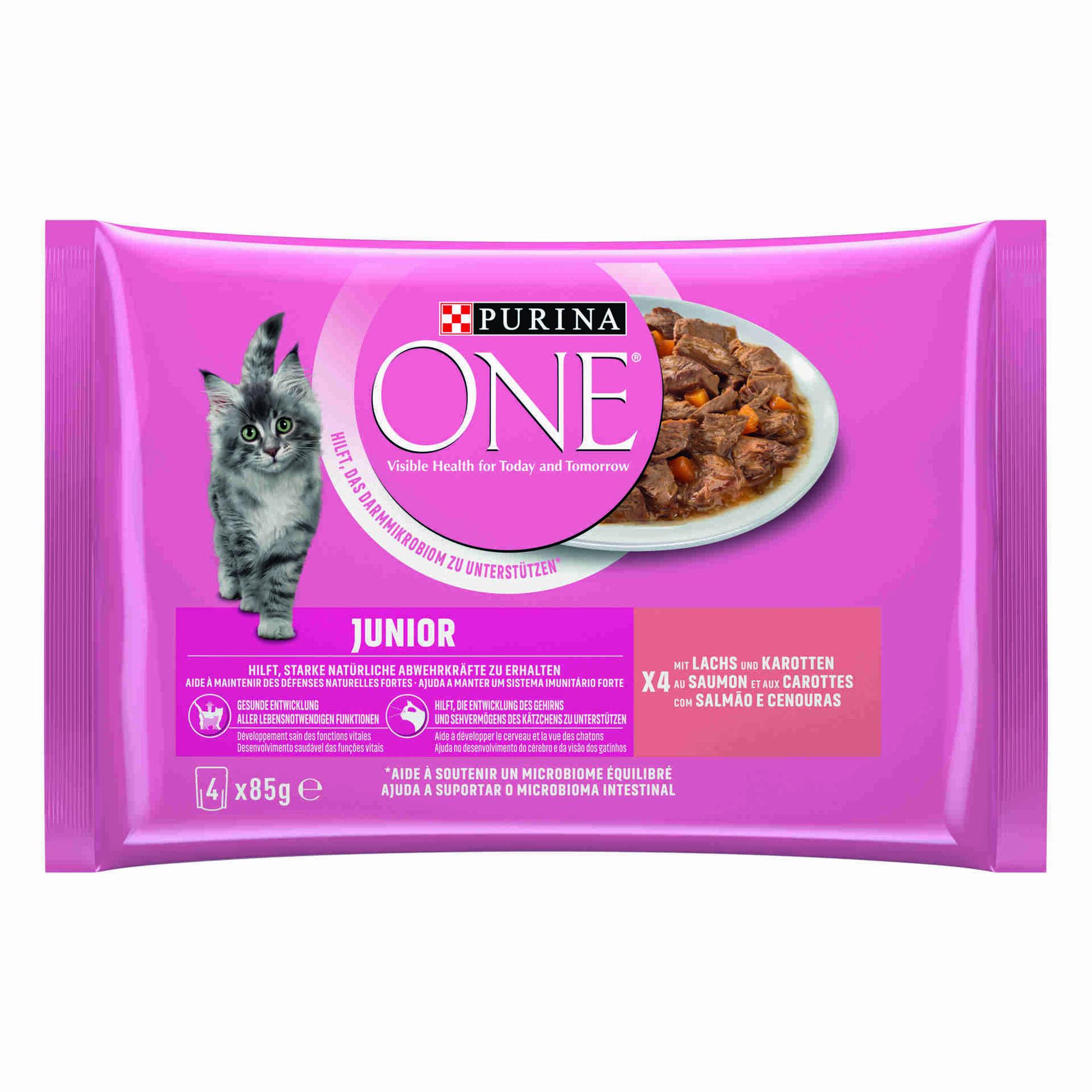 Comida Húmida para Gato Júnior Salmão Saquetas