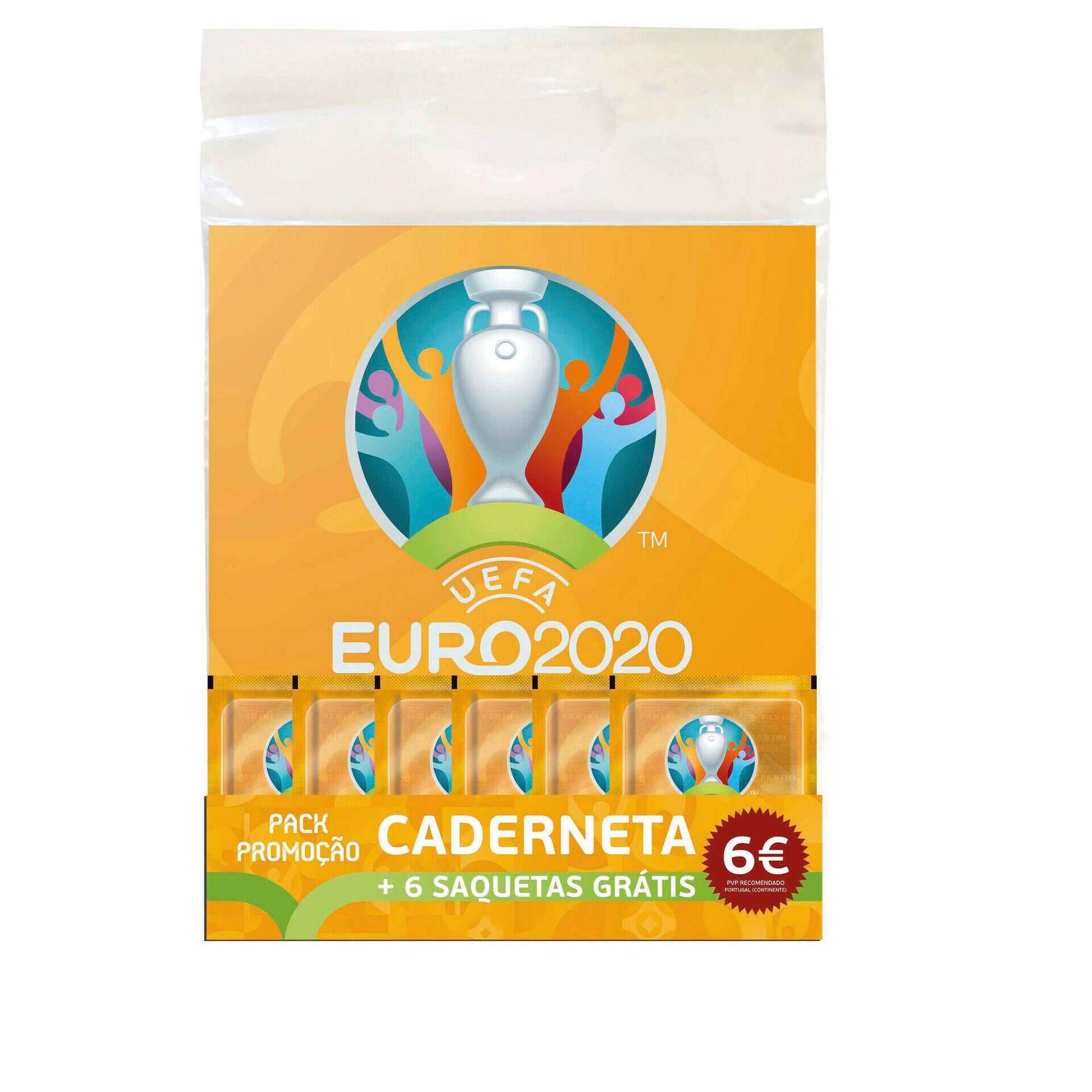 Caderneta e 6 Saquetas Futebol Euro 2020