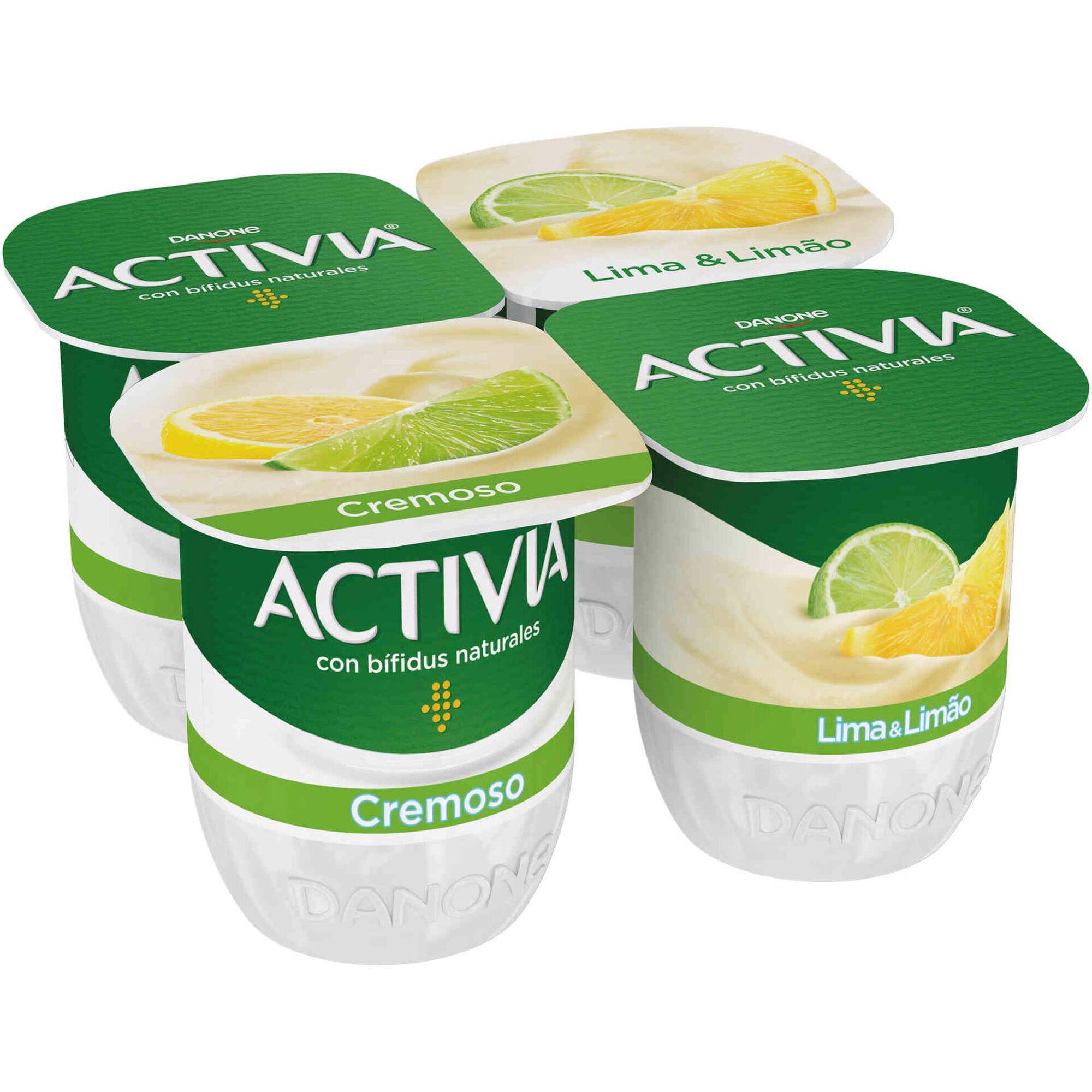 Iogurte Bifidus Pedaços Probióticos Lima e Limão Activia