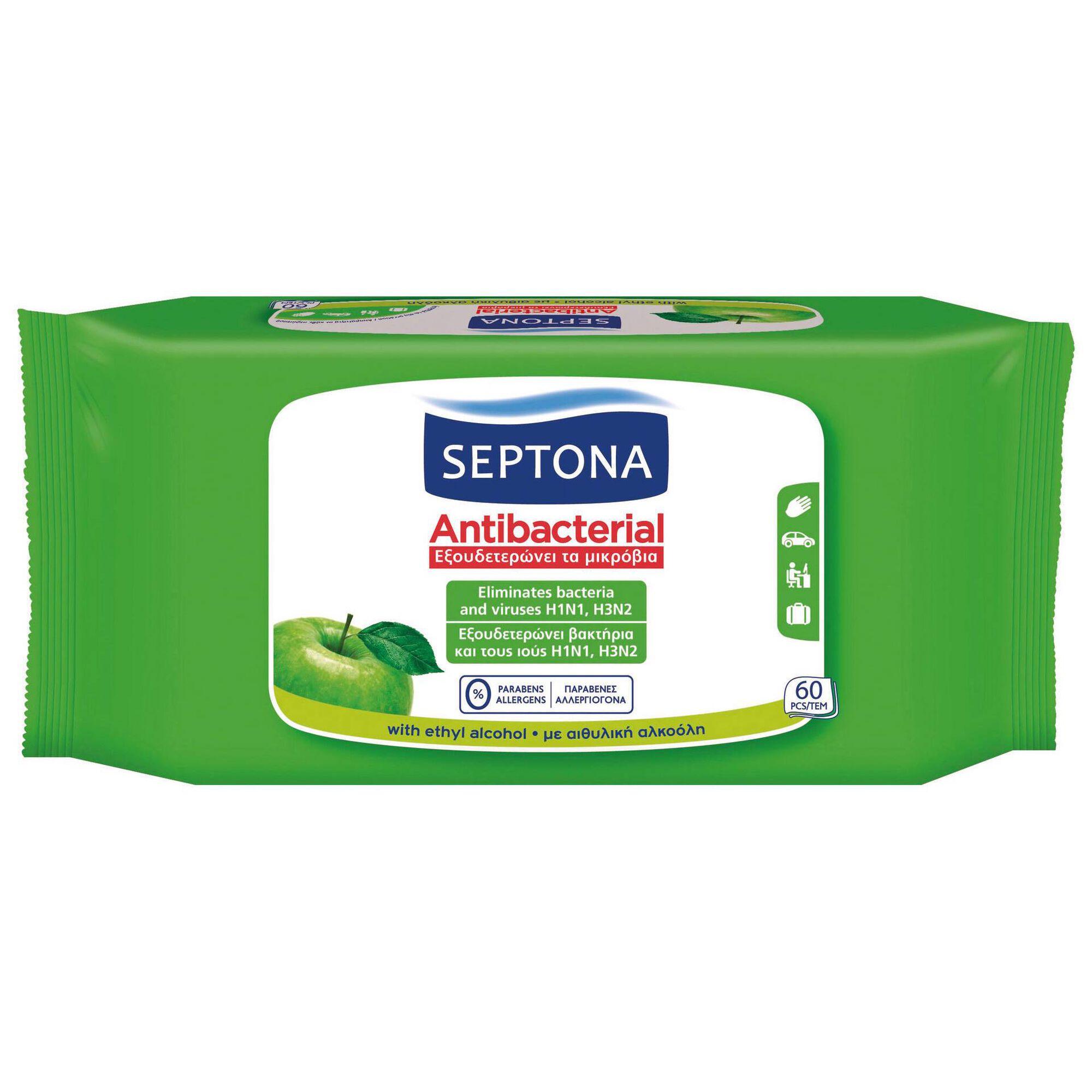 Toalhitas Antibacterianas Maçã Verde
