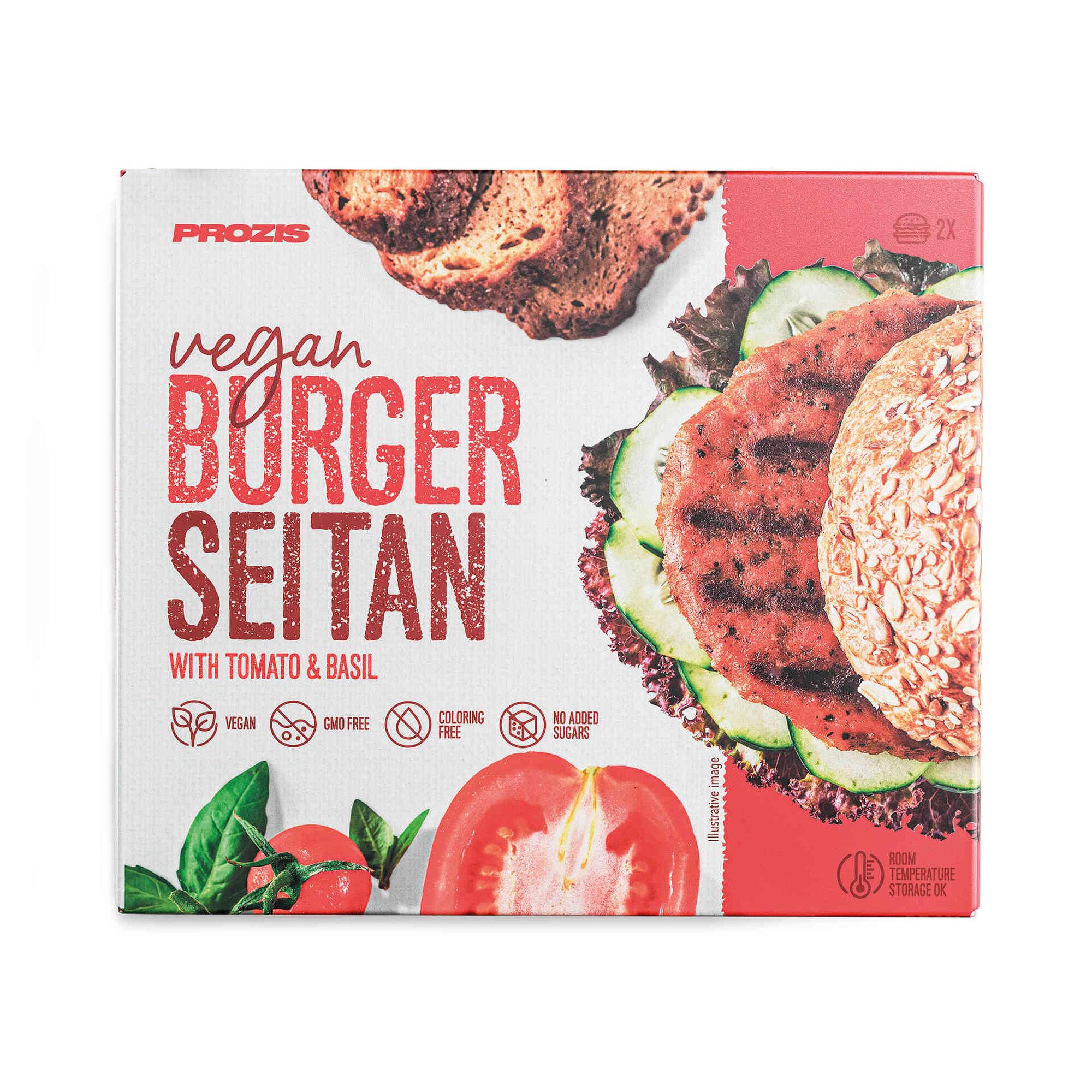 Burger de Seitan, Tomate e Manjericão