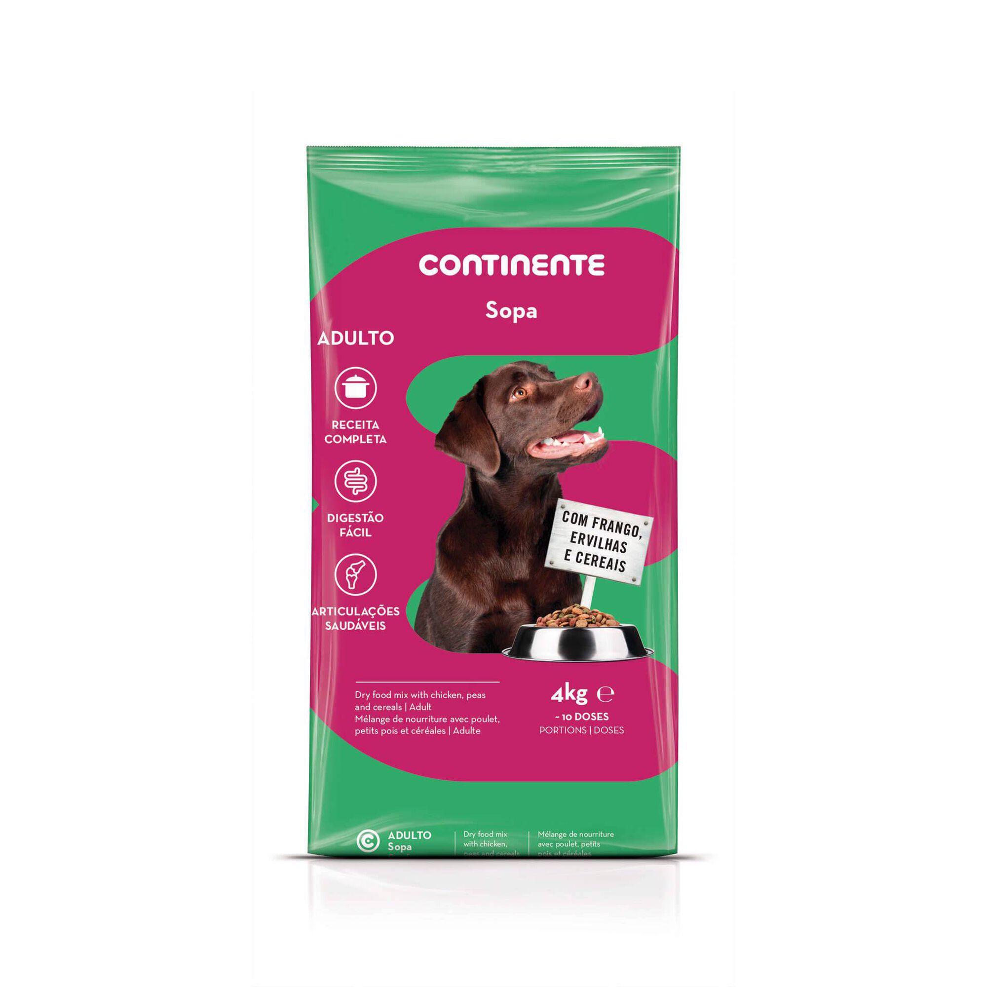 Ração para Cão Adulto Sopa Frango, Ervilhas e Cereais