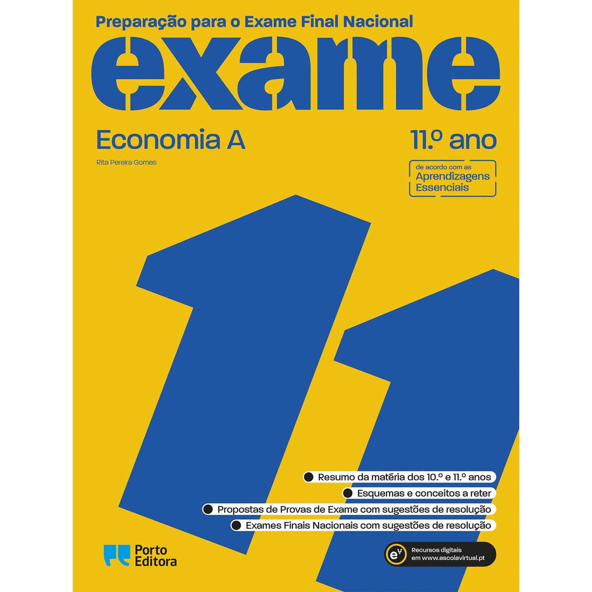 Preparação para o Exame Final Nacional 2021 - Economia A - 11º Ano