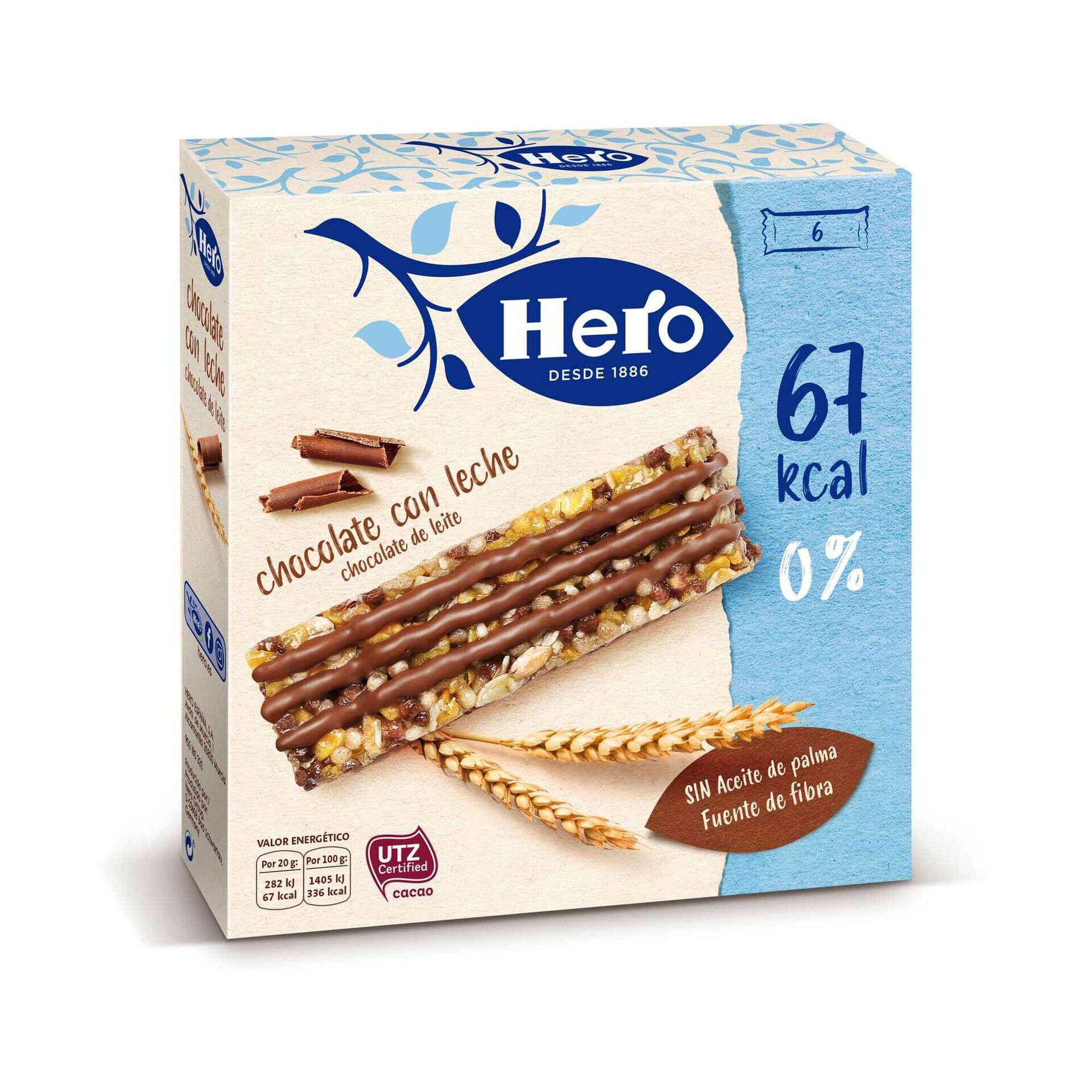 Barras de Cereais Chocolate de Leite Línea