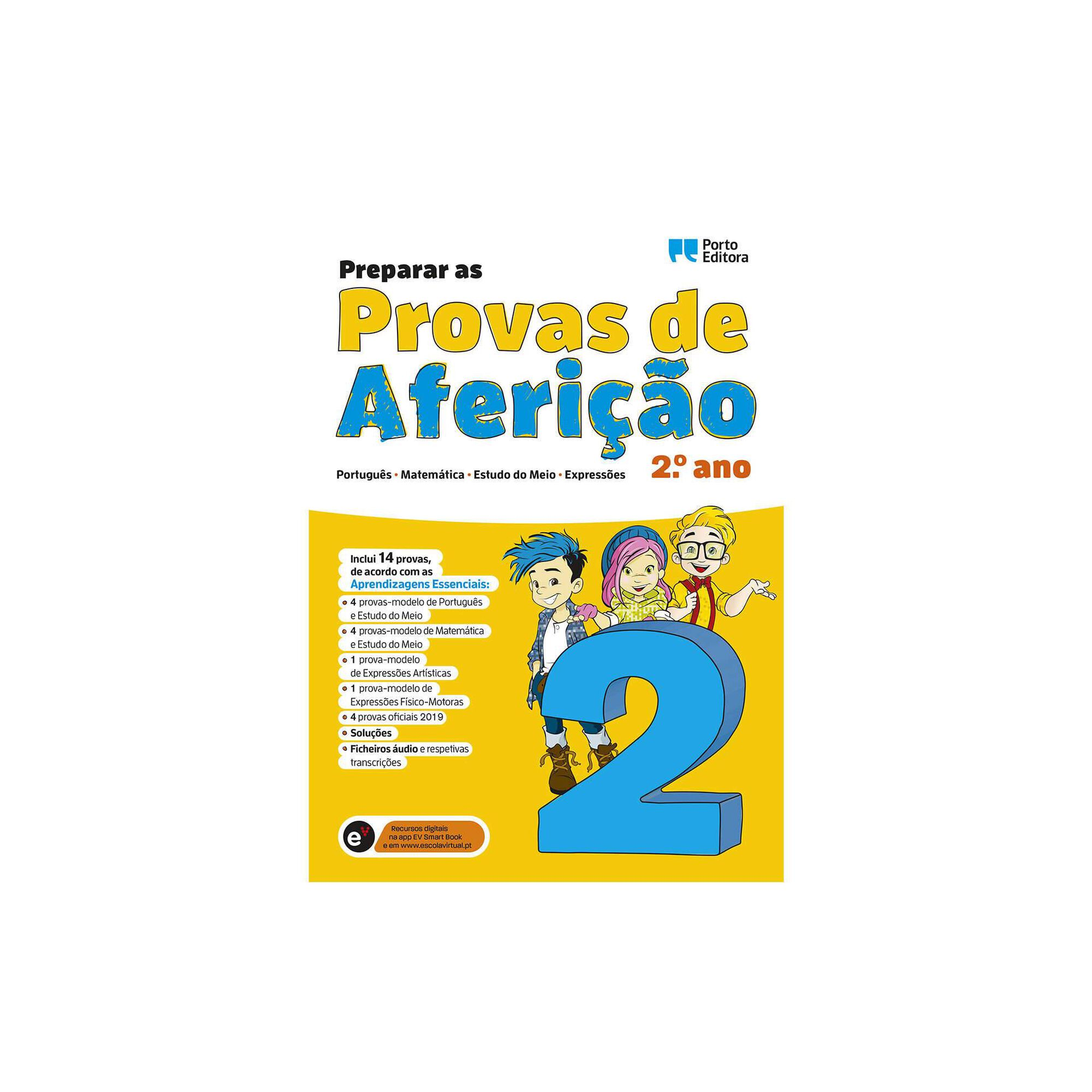 Preparar as Provas de Aferição - Português, Matemática, Estudo do Meio e Expressões - 2º Ano