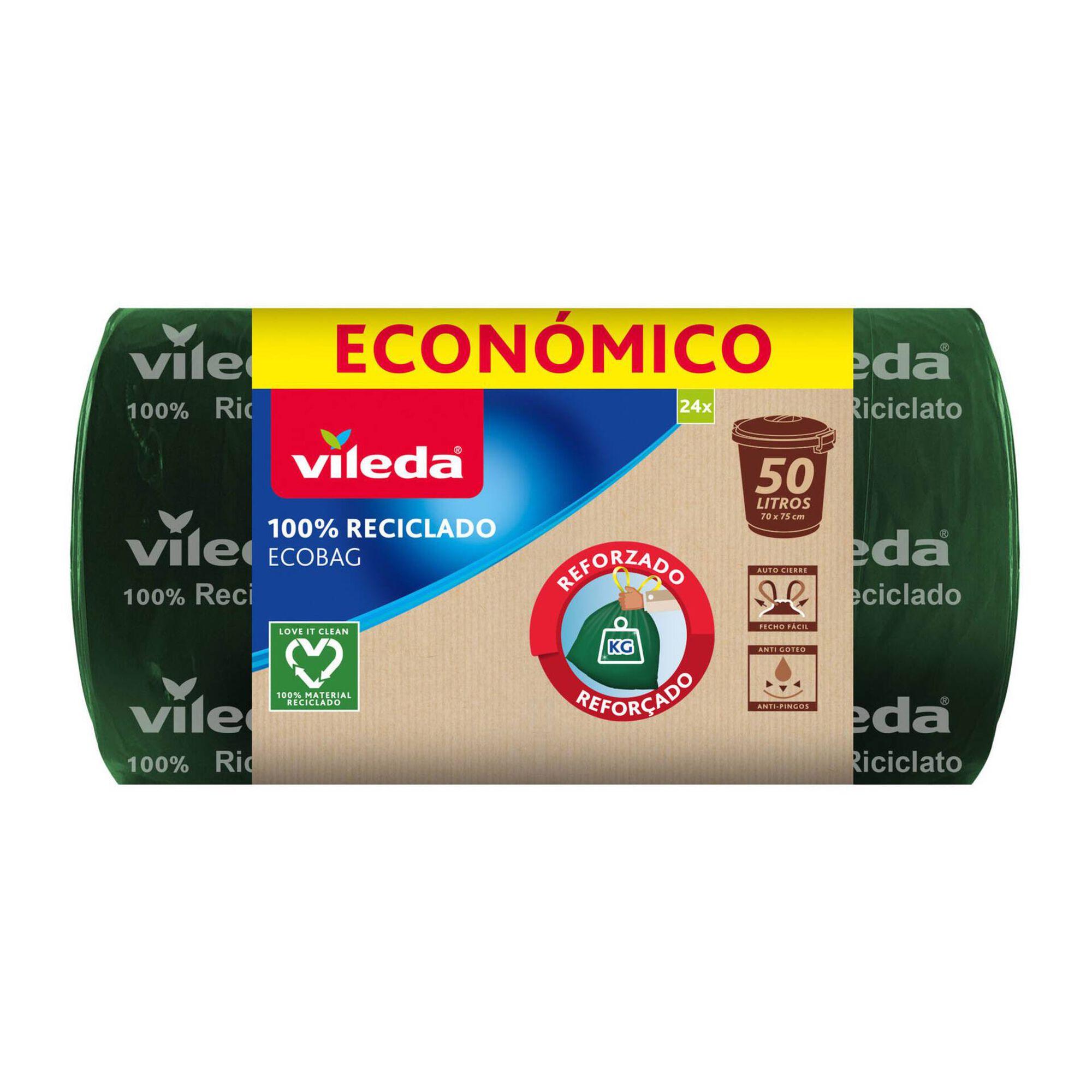 Sacos Lixo Ecobag 100% Reciclado 50 lt