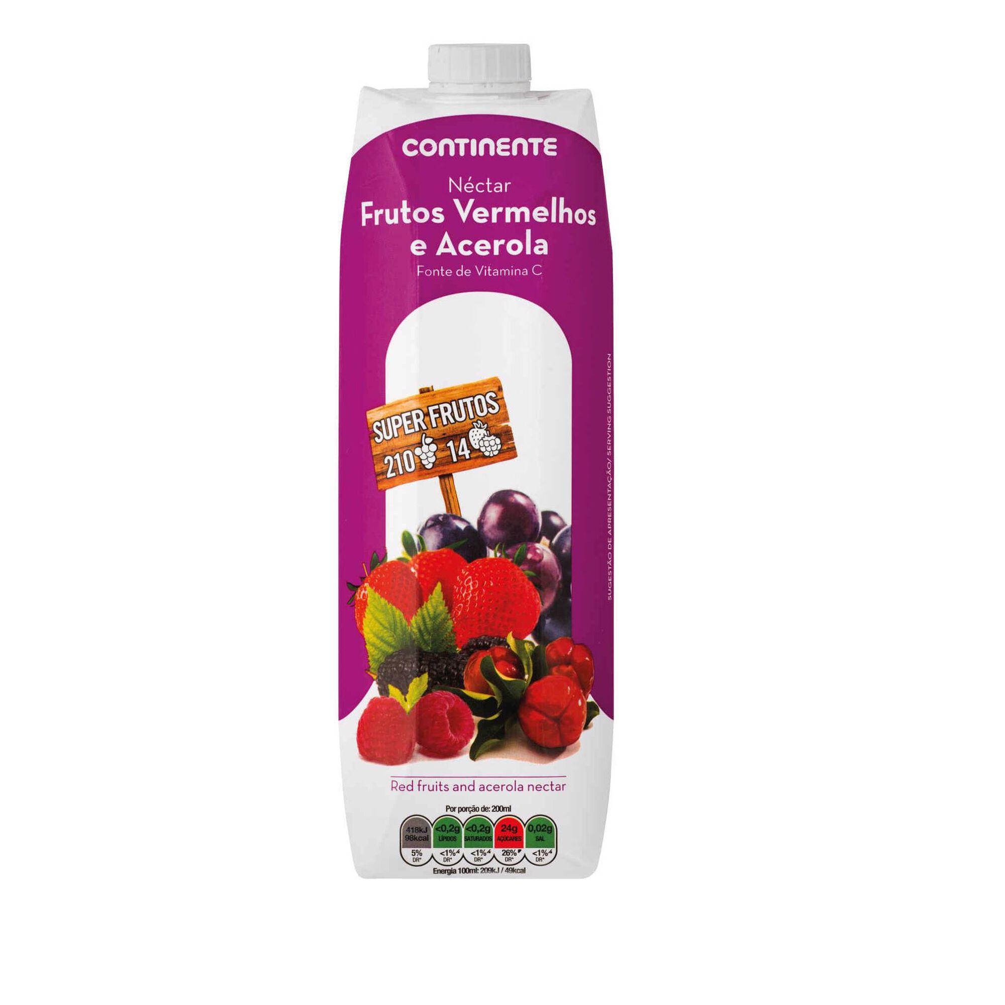 Néctar Frutos Vermelhos e Acerola