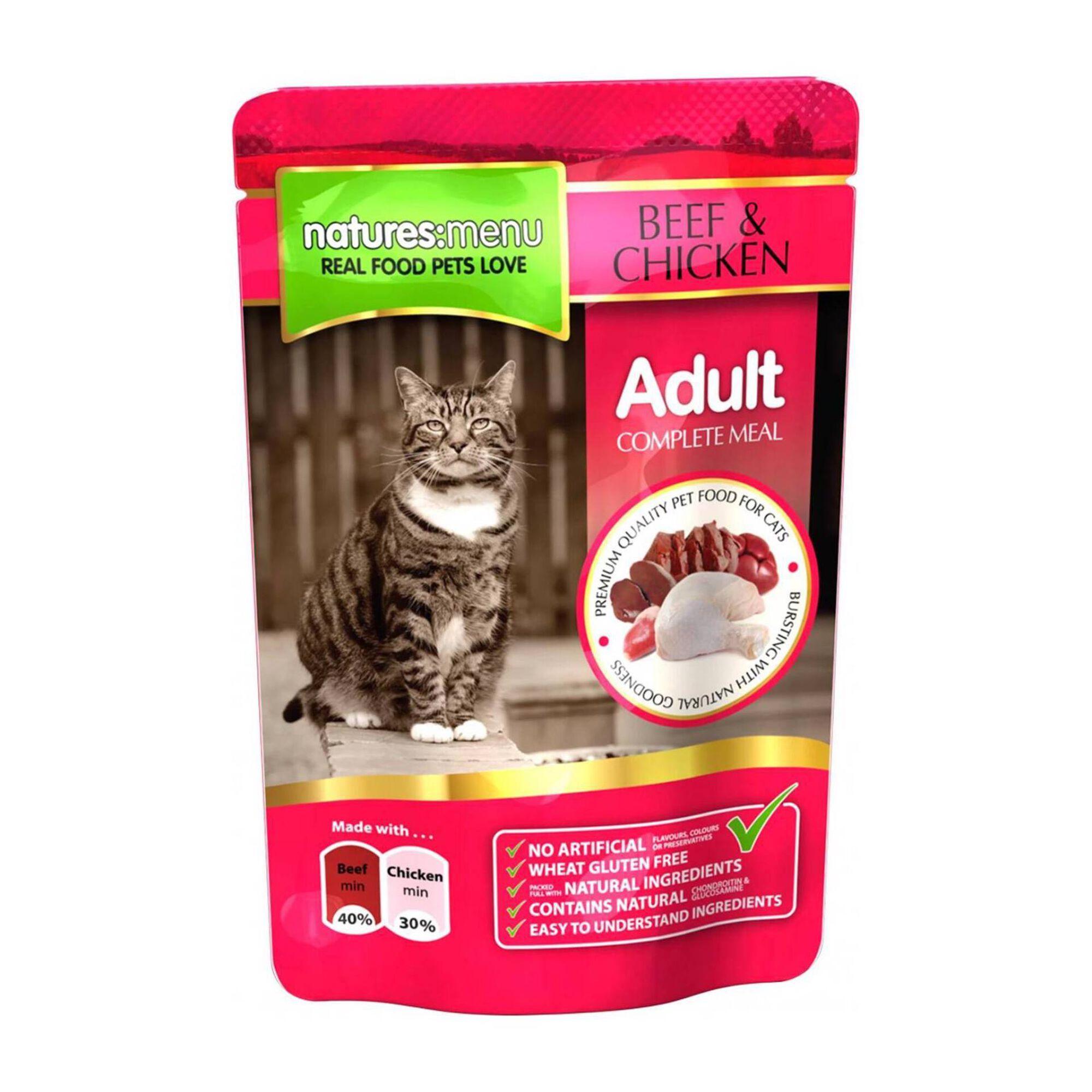 Comida Húmida para Gato Adulto Vaca e Frango Saquetas