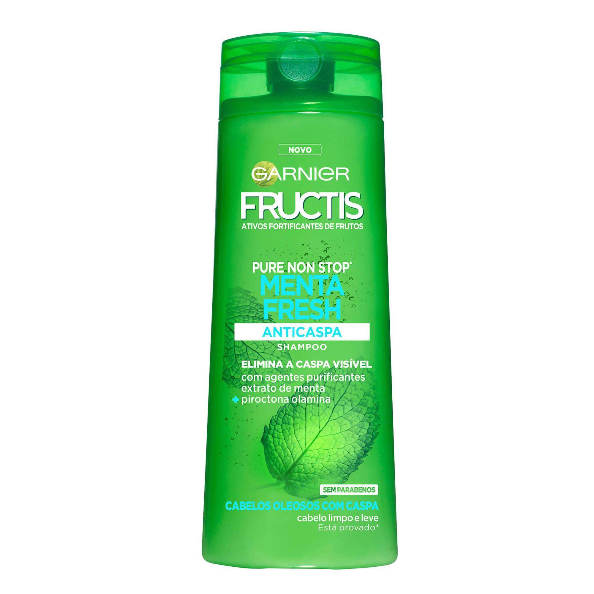 Champô Fructis Pure Non Stop Menta Fresh