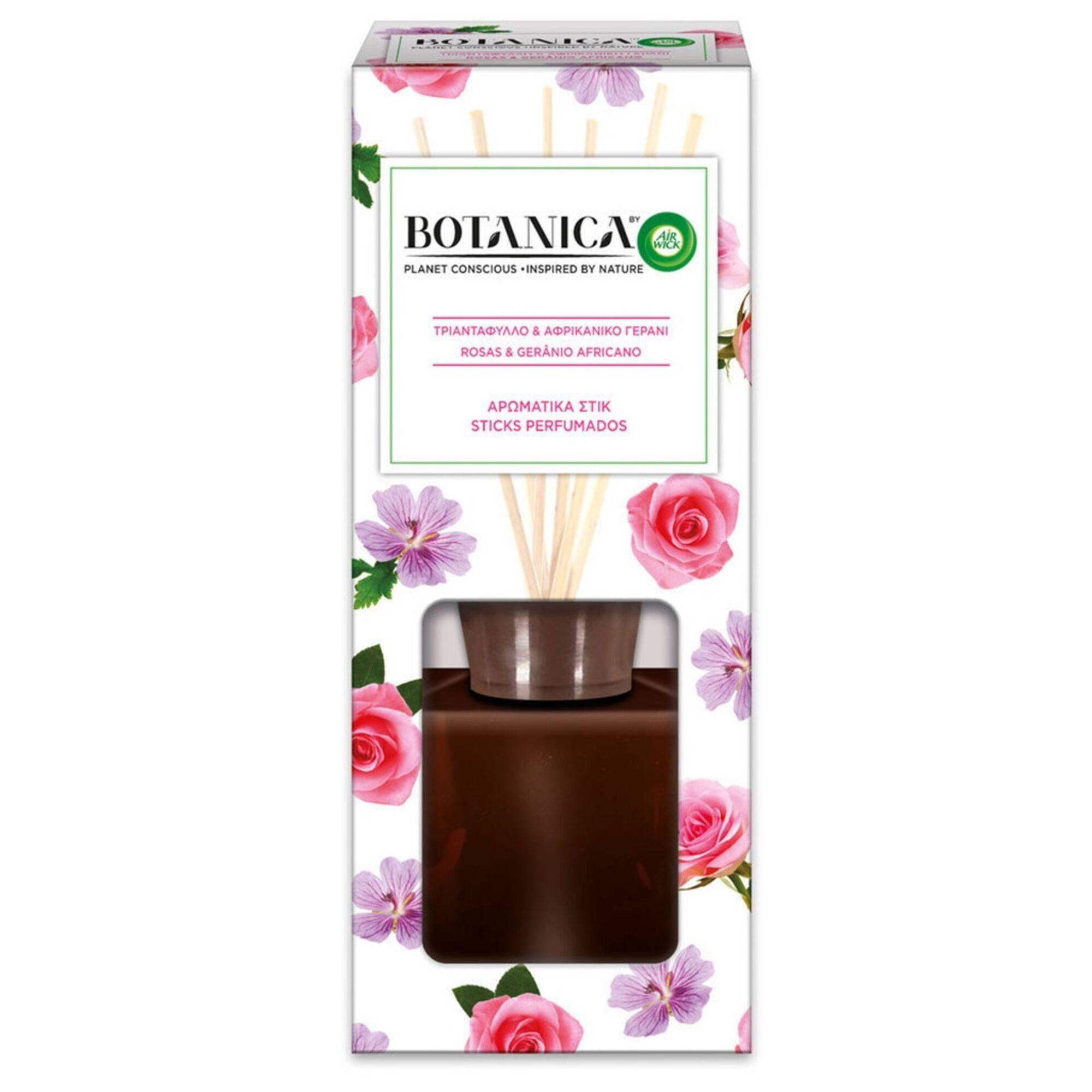 Ambientador Stick Perfumado Botânica Rosas e Gerânio