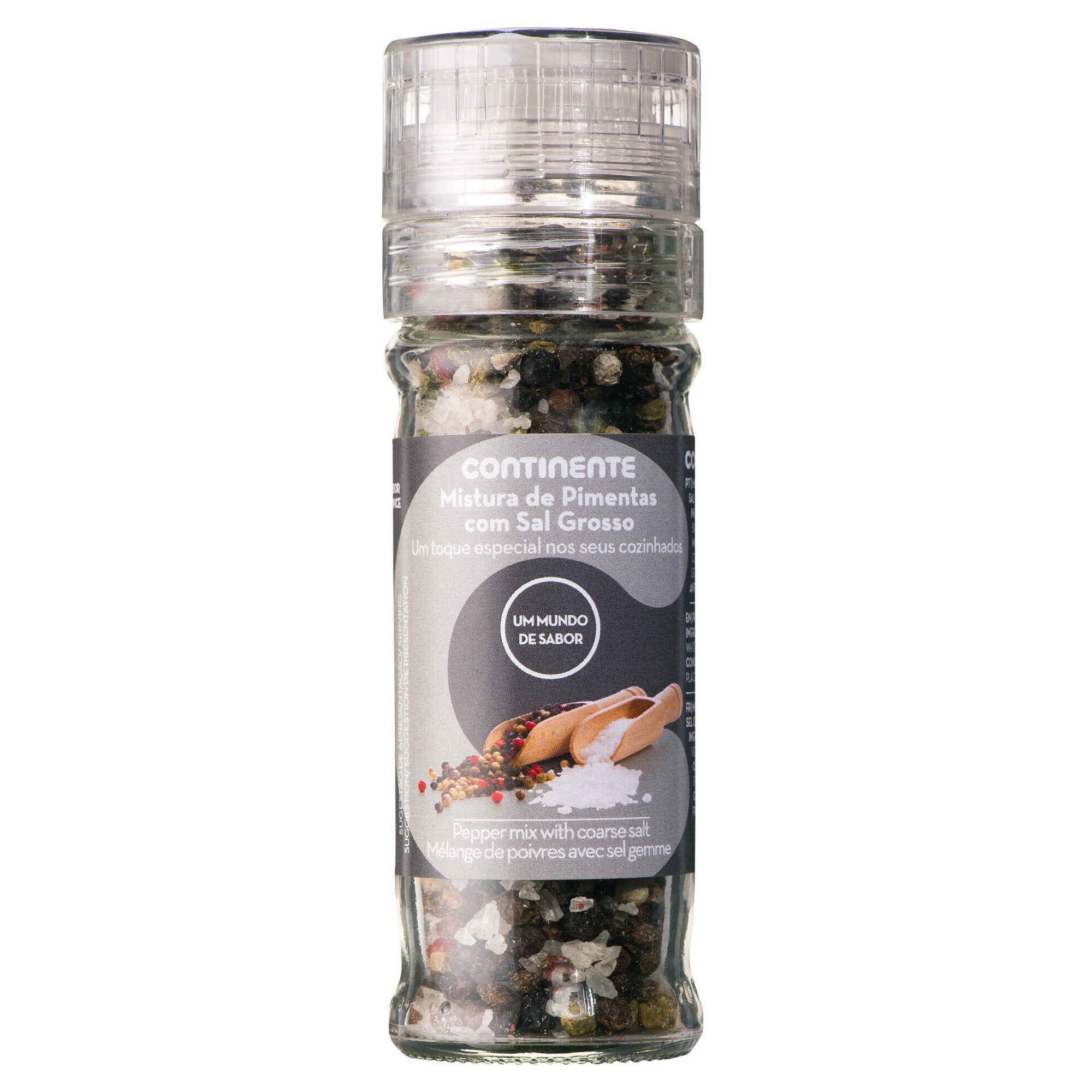 Mix Pimentas com Sal Grosso Moinho