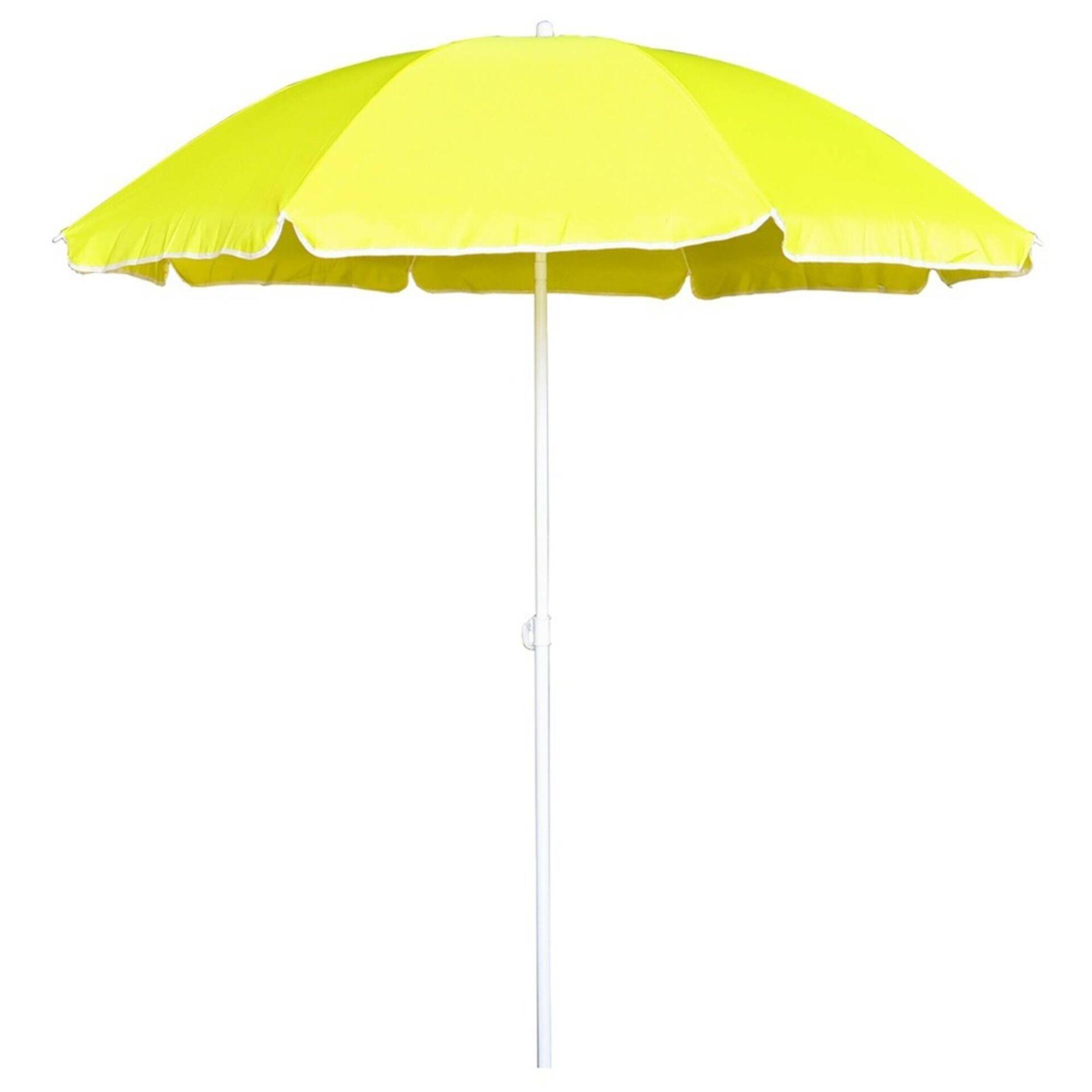 Guarda-sol de Praia 180cm Amarelo